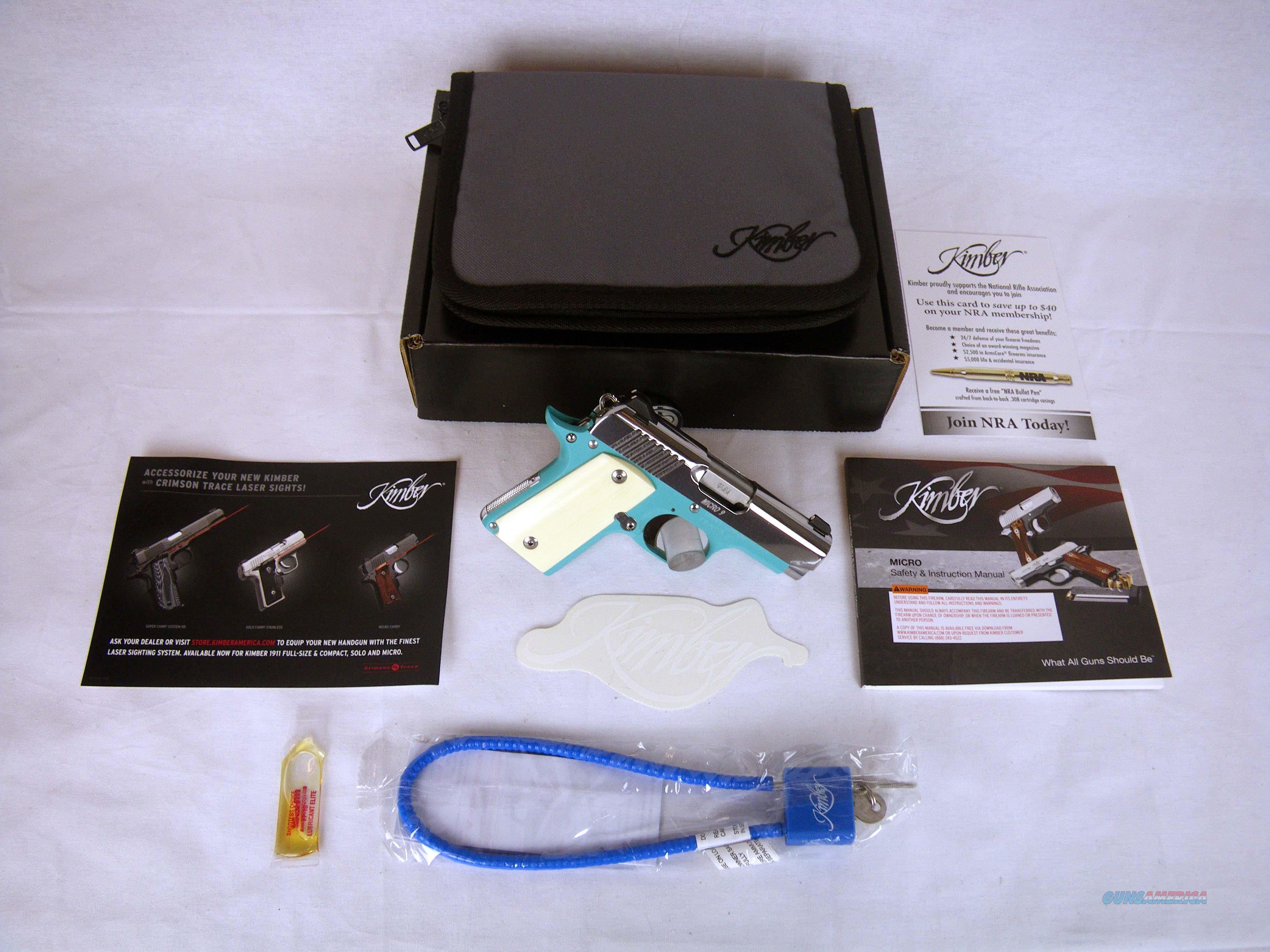 "Kimber Micro 9 Bel Air Ivory 9mm 3.15"" NEW 3300110  Guns > Pistols > Kimber of America Pistols > Micro 9"