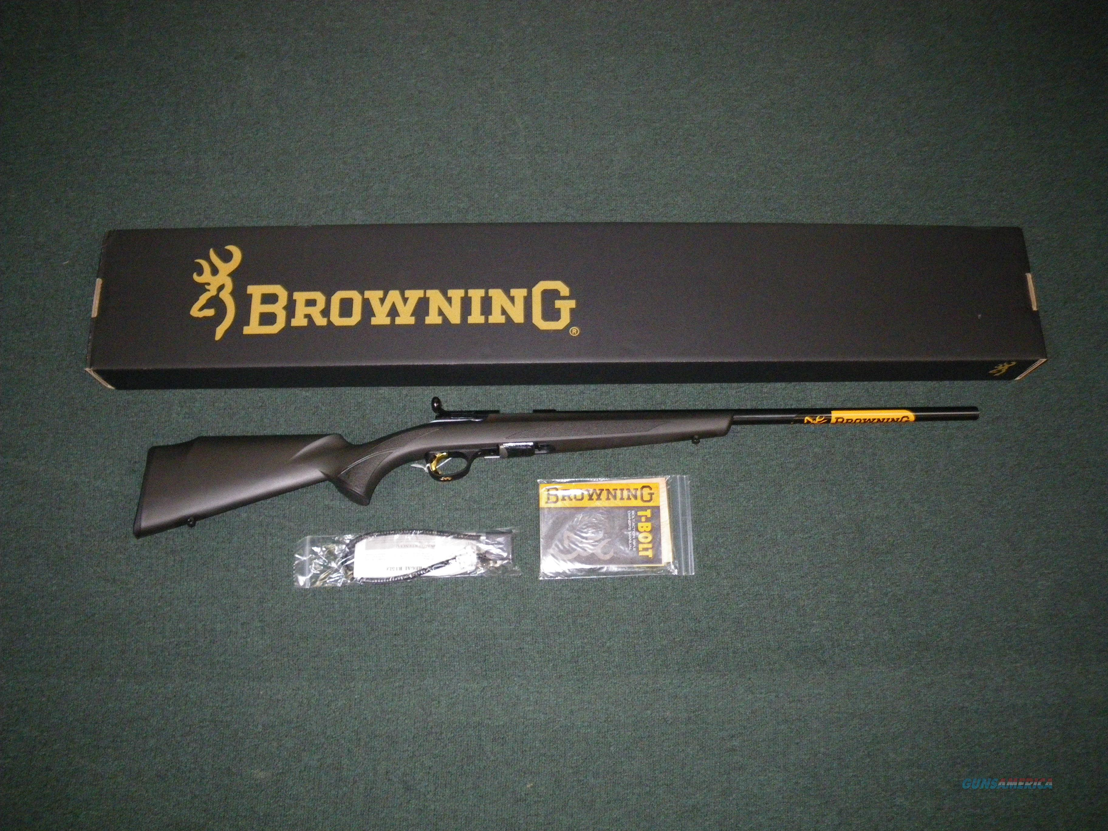 "Browning T-Bolt Target/Varmint Composite 17HMR 22"" #025180270  Guns > Rifles > Browning Rifles > Bolt Action > Hunting > Blue"