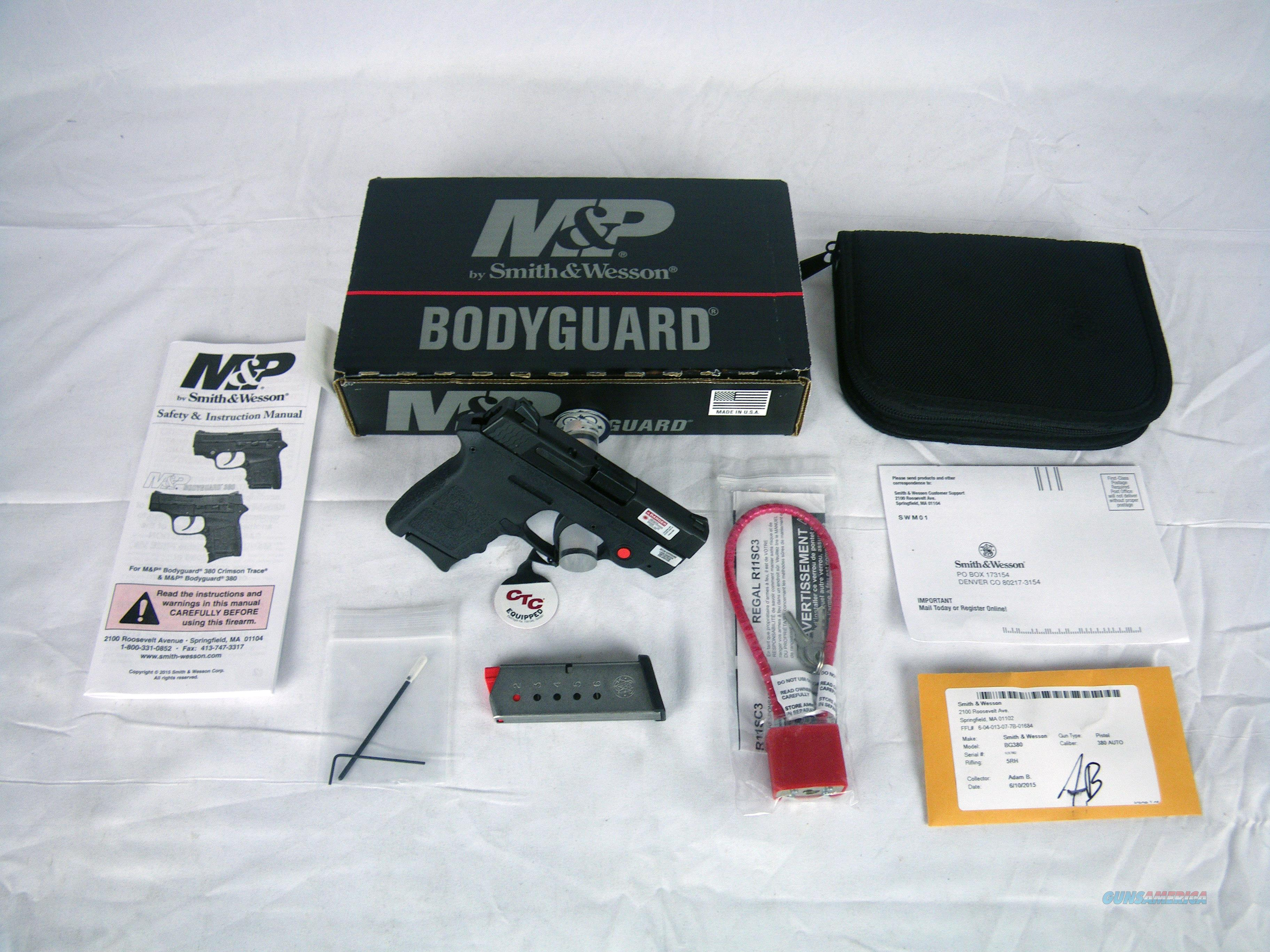 "Smith&Wesson M&P Bodyguard 380ACP 2.75"" Laser NEW #10048  Guns > Pistols > Smith & Wesson Pistols - Autos > Polymer Frame"