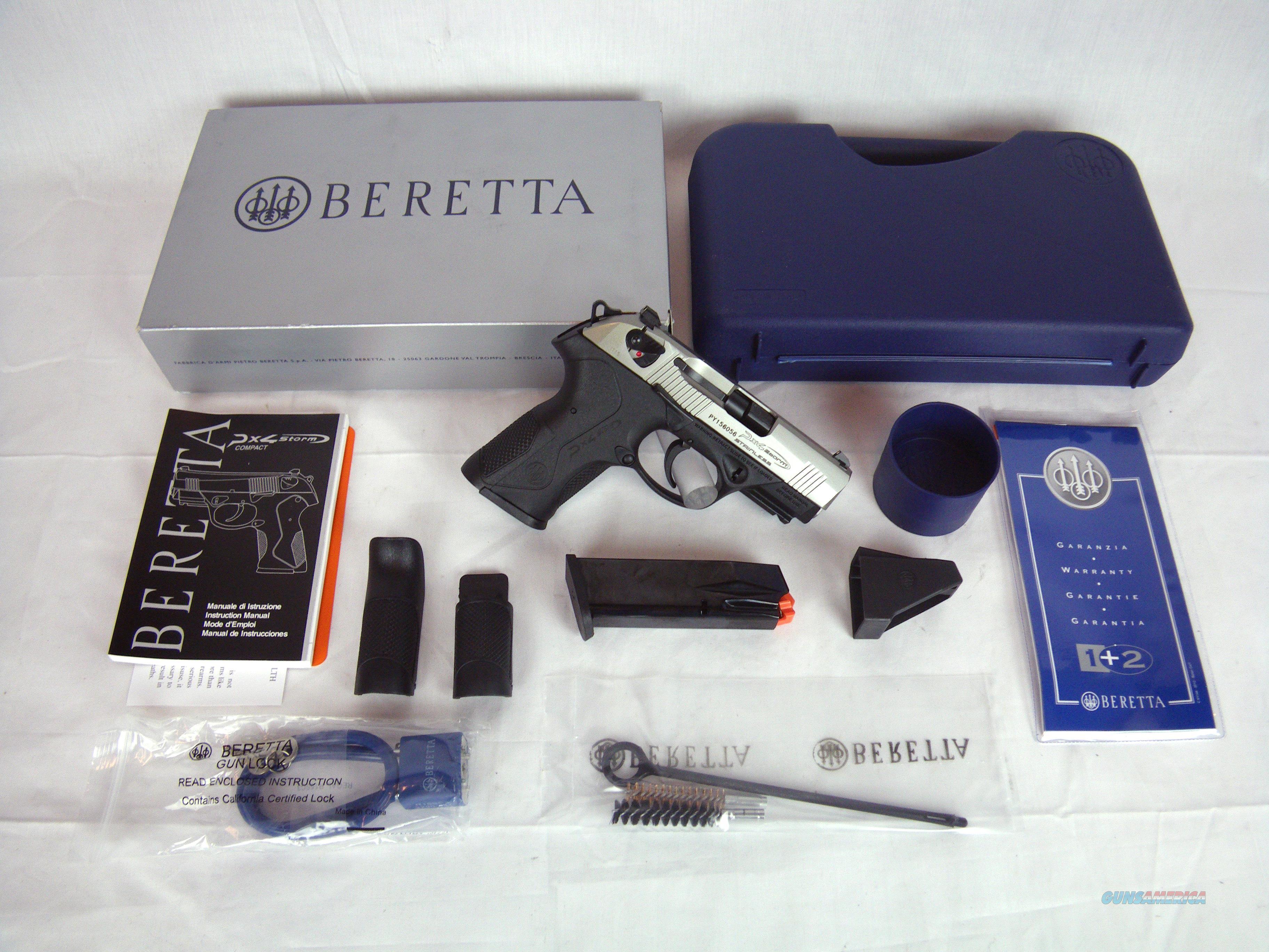"""Beretta PX4 Storm Compact Inox 40 S&W 3.27"""" SS NEW #JXC4F51  Guns > Pistols > Beretta Pistols > Polymer Frame"""