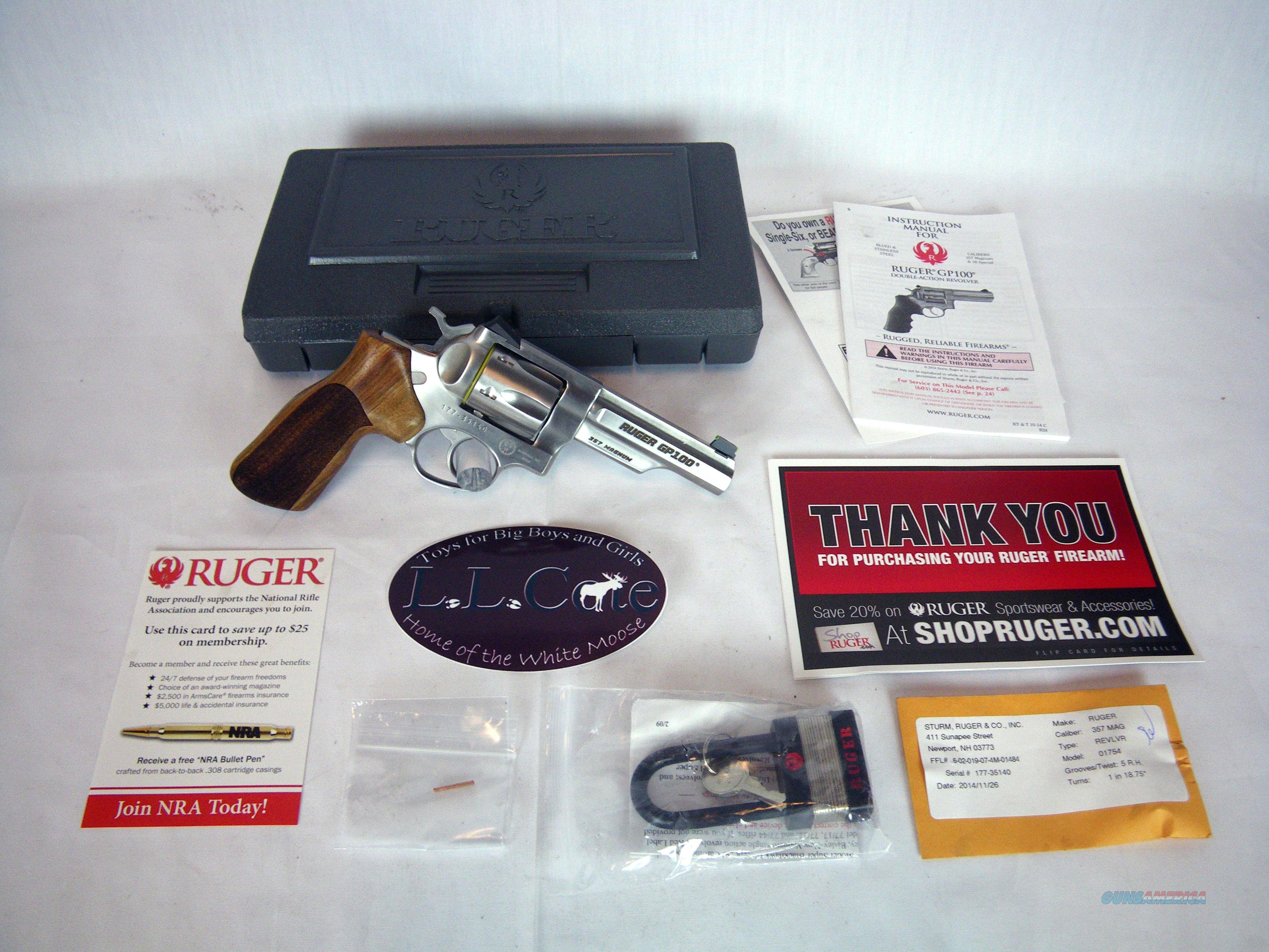 "Ruger GP100 Revolver 357 Mag 4.2"" Stainless NIB #1754  Guns > Pistols > Ruger Double Action Revolver > GP100"