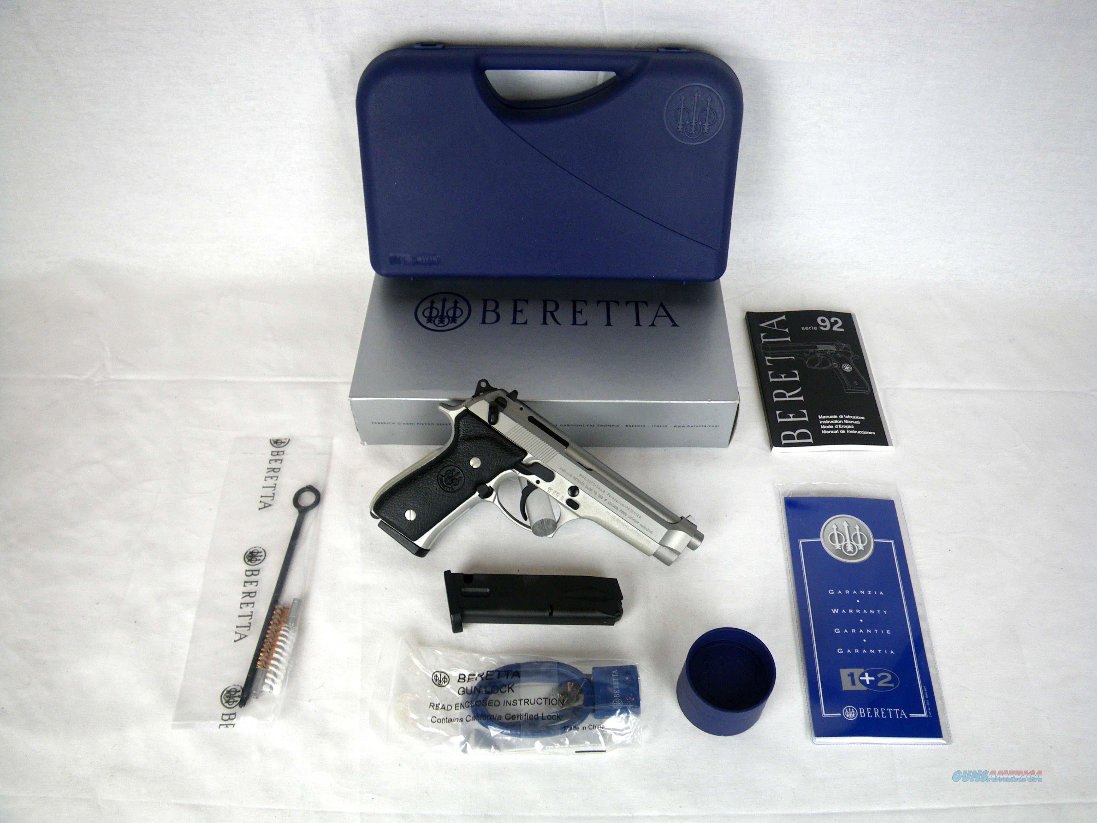 """Beretta 92FS Inox 9mm 4.9"""" Stainless NEW JS92F520M  Guns > Pistols > Beretta Pistols > Model 92 Series"""