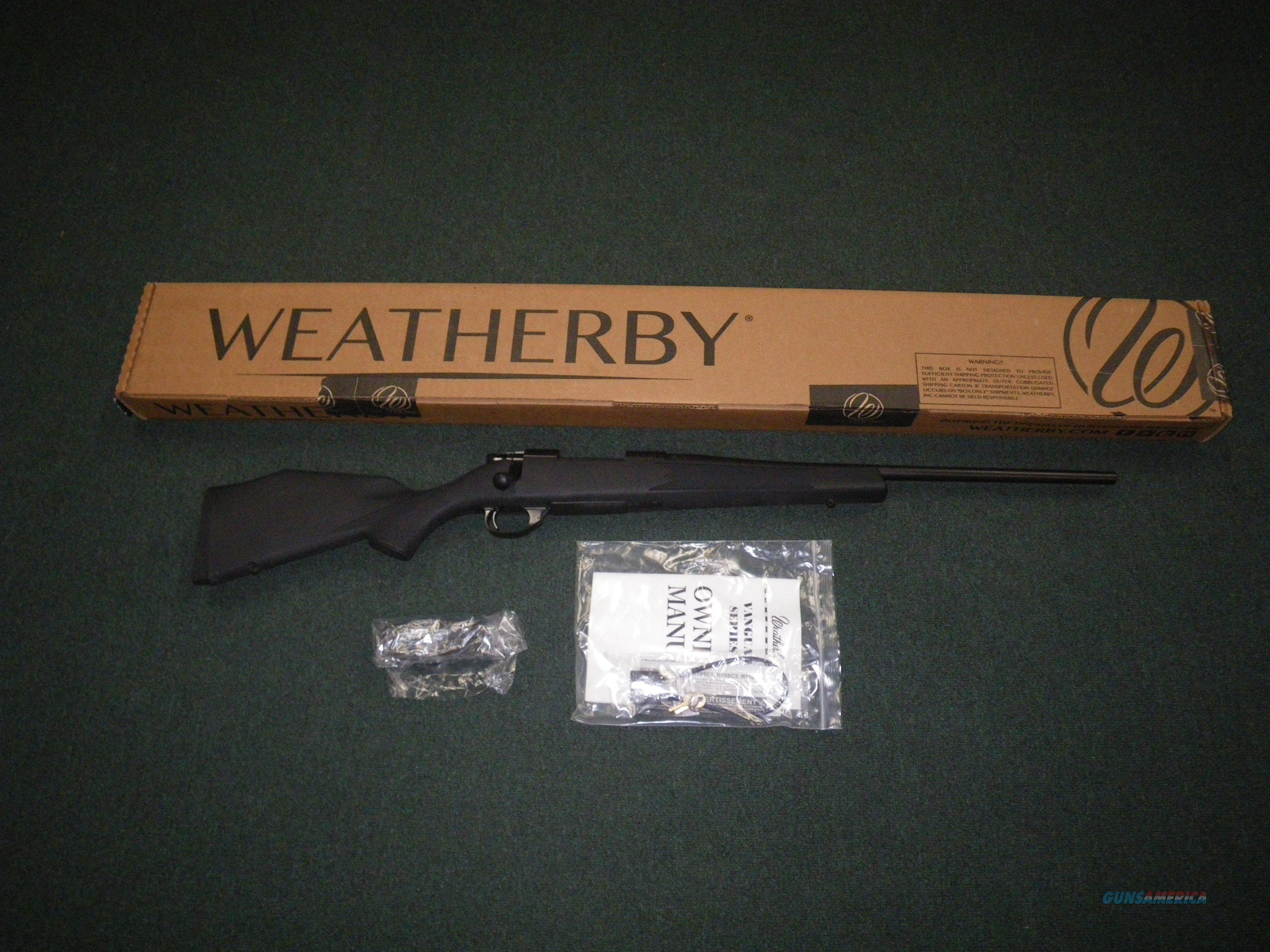 """Weatherby Vanguard Synthetic Compact 243 Win 20"""" NEW VYT243NR0O  Guns > Rifles > Weatherby Rifles > Sporting"""