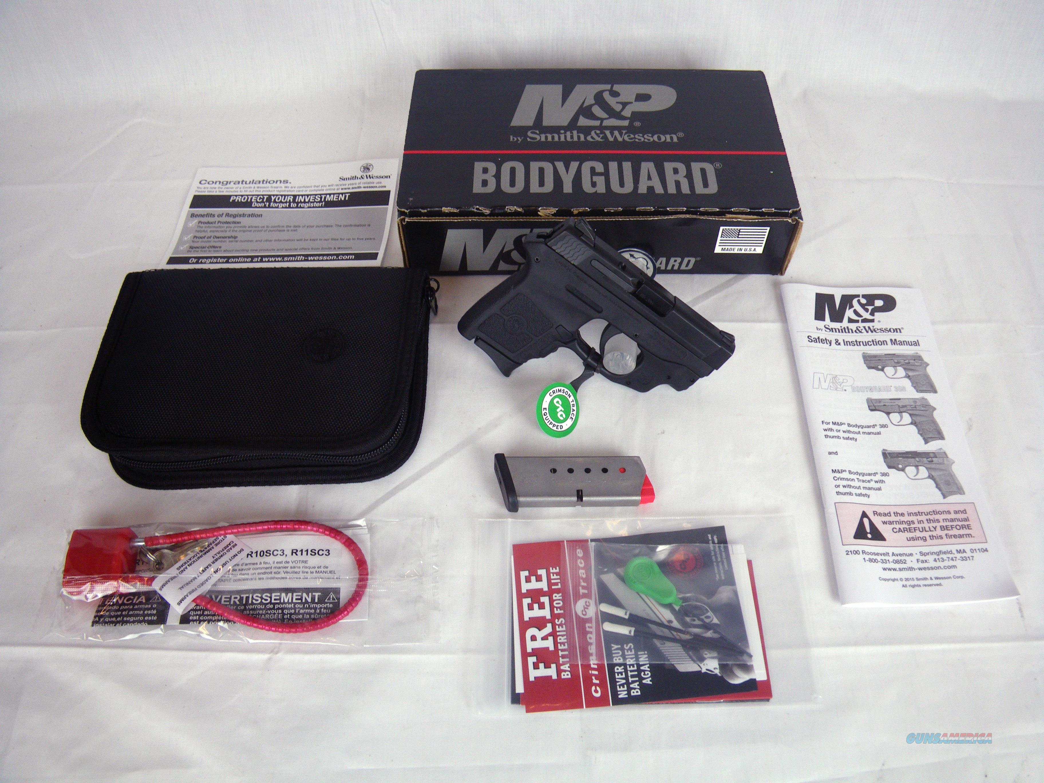 "Smith & Wesson Bodyguard 380 ACP 2.75"" Green Laser #10178  Guns > Pistols > Smith & Wesson Pistols - Autos > Polymer Frame"
