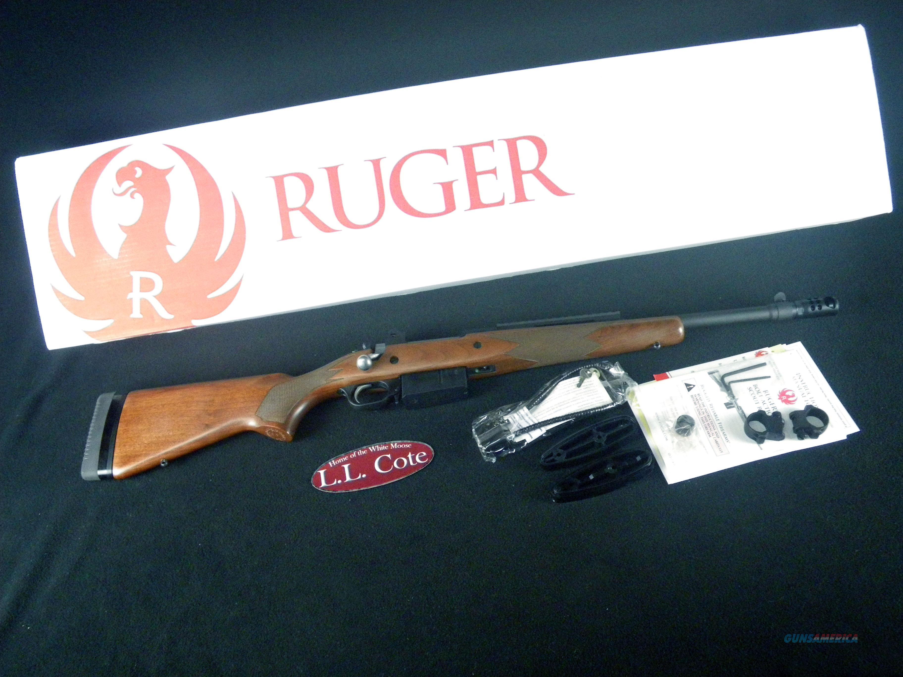 """Ruger Gunsite Scout Wood 450 Bush 16.1"""" NEW 6837  Guns > Rifles > Ruger Rifles > Gunsite"""