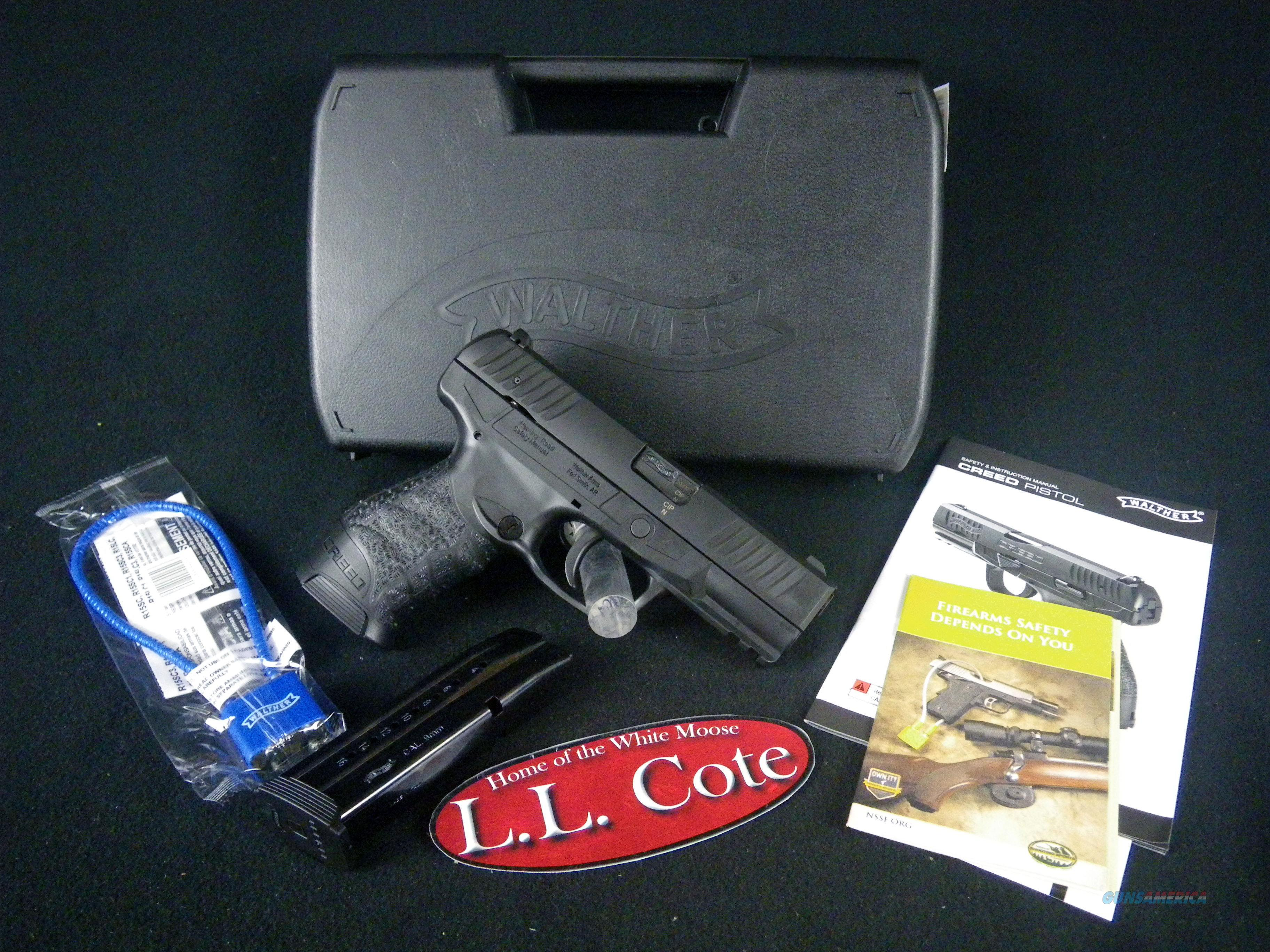 "Walther Creed 9mm 4"" Black/Synthetic NEW 2815516  Guns > Pistols > Walther Pistols > Post WWII > Creed"