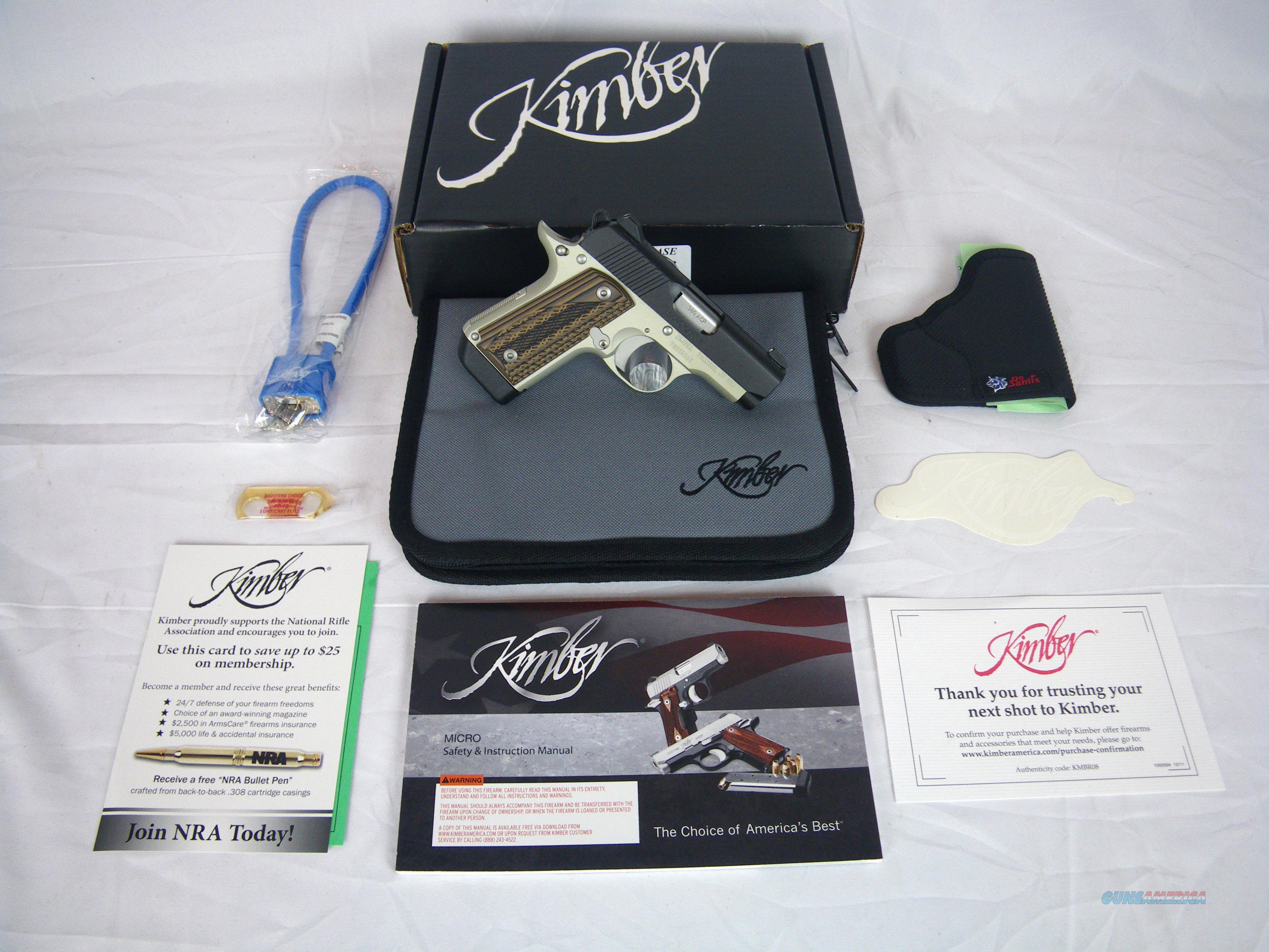 "Kimber Micro Carry Advocate 380 ACP 2-3/4"" #3300085  Guns > Pistols > Kimber of America Pistols > Micro"