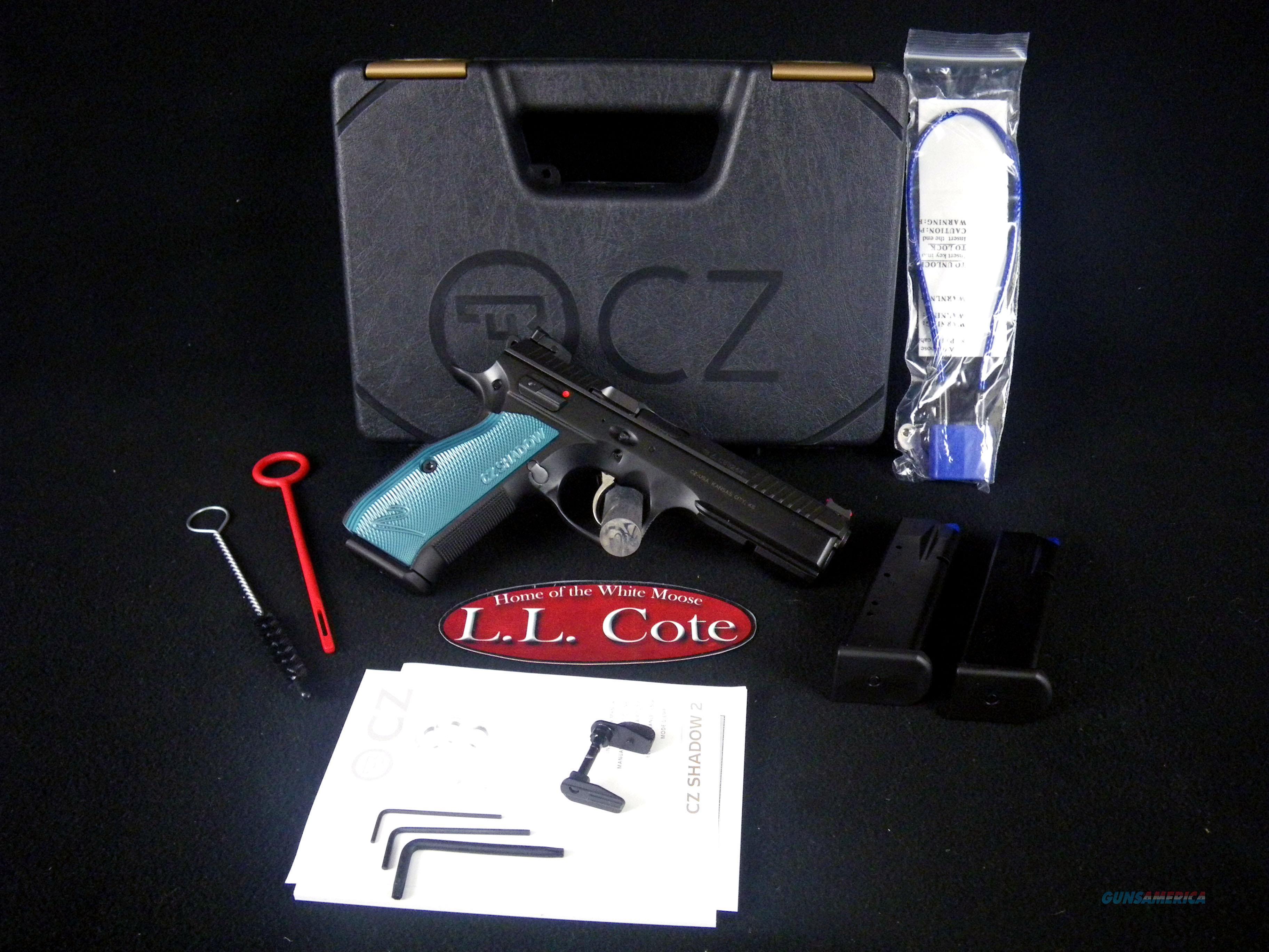 """CZ Shadow 2 Black/Blue 9mm 4.89"""" Steel NEW 91257  Guns > Pistols > CZ Pistols"""