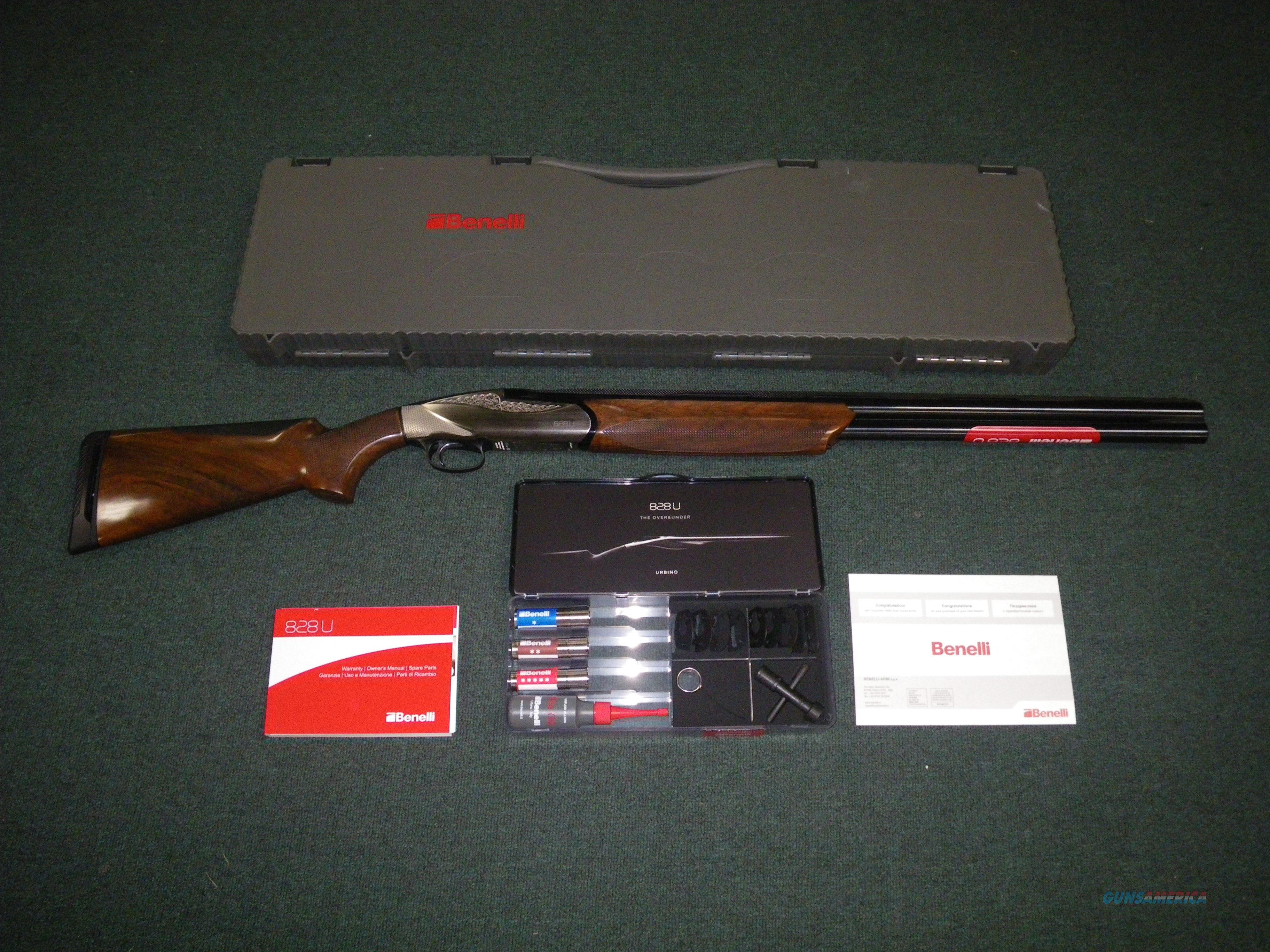 "Benelli 828U Shotgun Nickel/Wood 12ga 28"" NEW #10704  Guns > Shotguns > Benelli Shotguns > Sporting"
