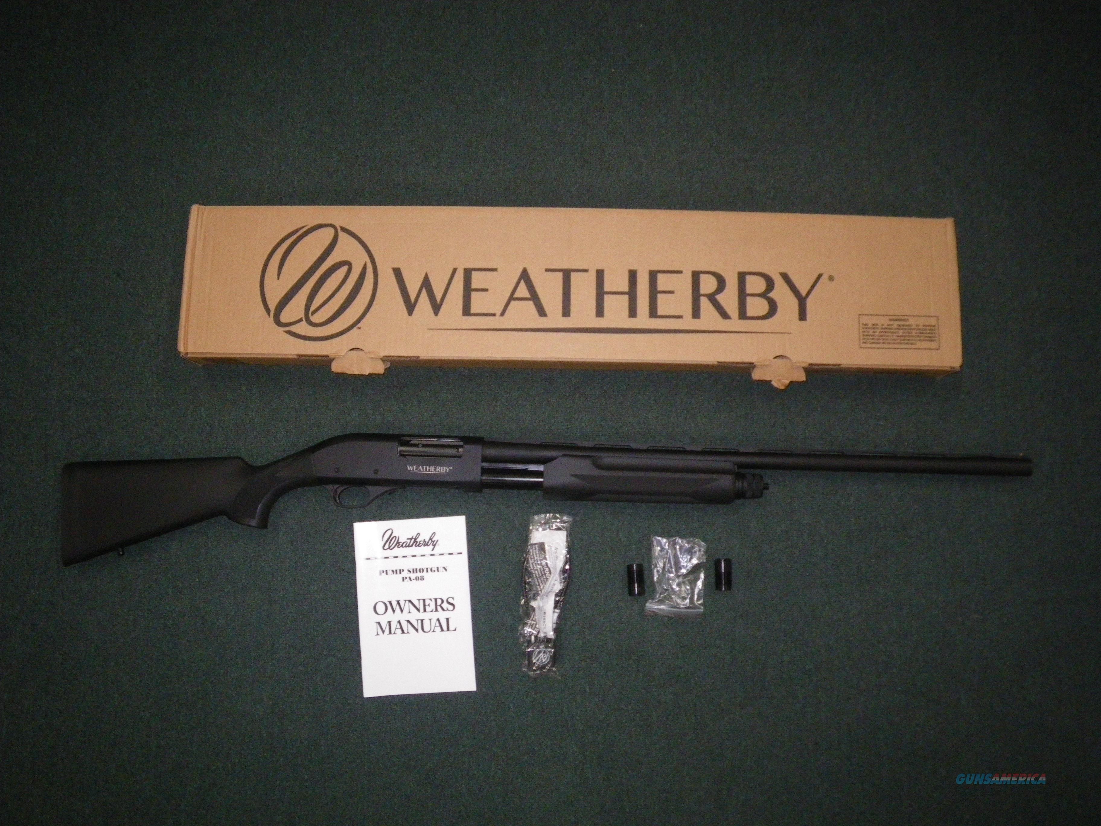 "Weatherby PA-08 Synthetic 12ga 26"" Barrel 3"" NEW PA08S1226PGM  Guns > Shotguns > Winchester Shotguns - Modern > Pump Action > Hunting"
