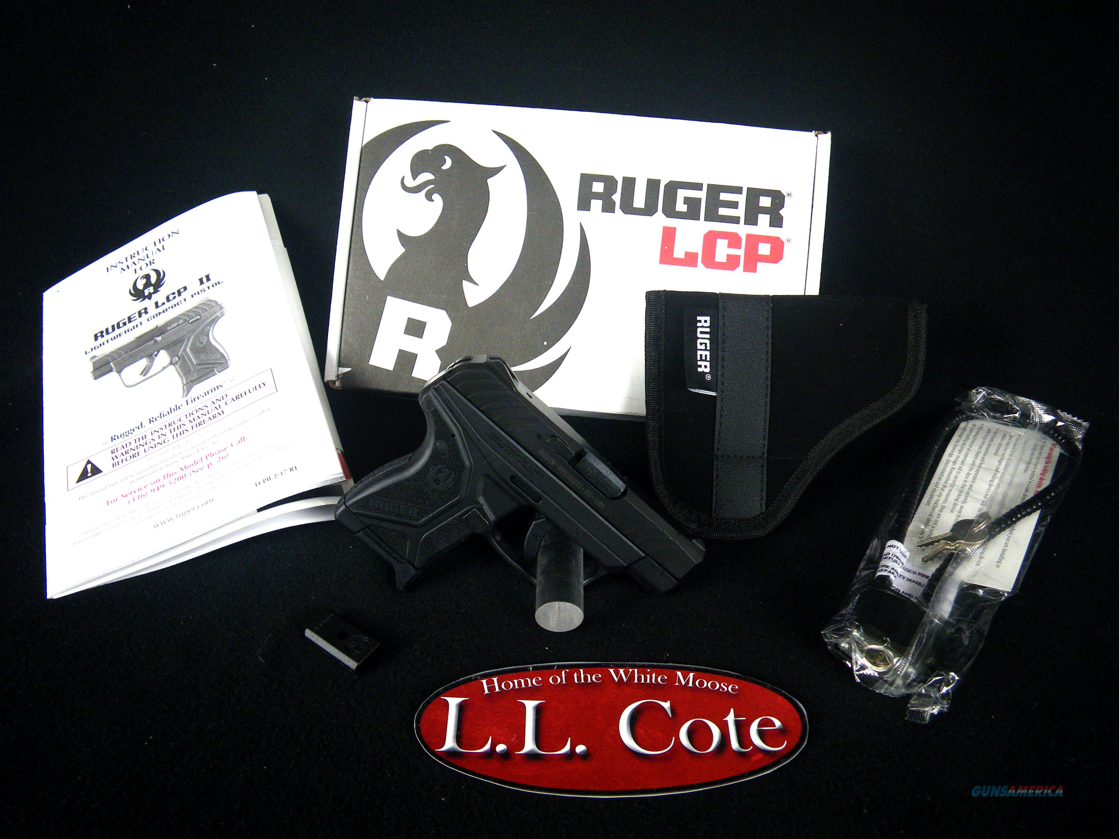 "Ruger LCP II Black/Synthetic 380acp 2.75"" NEW 3750  Guns > Pistols > Ruger Semi-Auto Pistols > LCP"