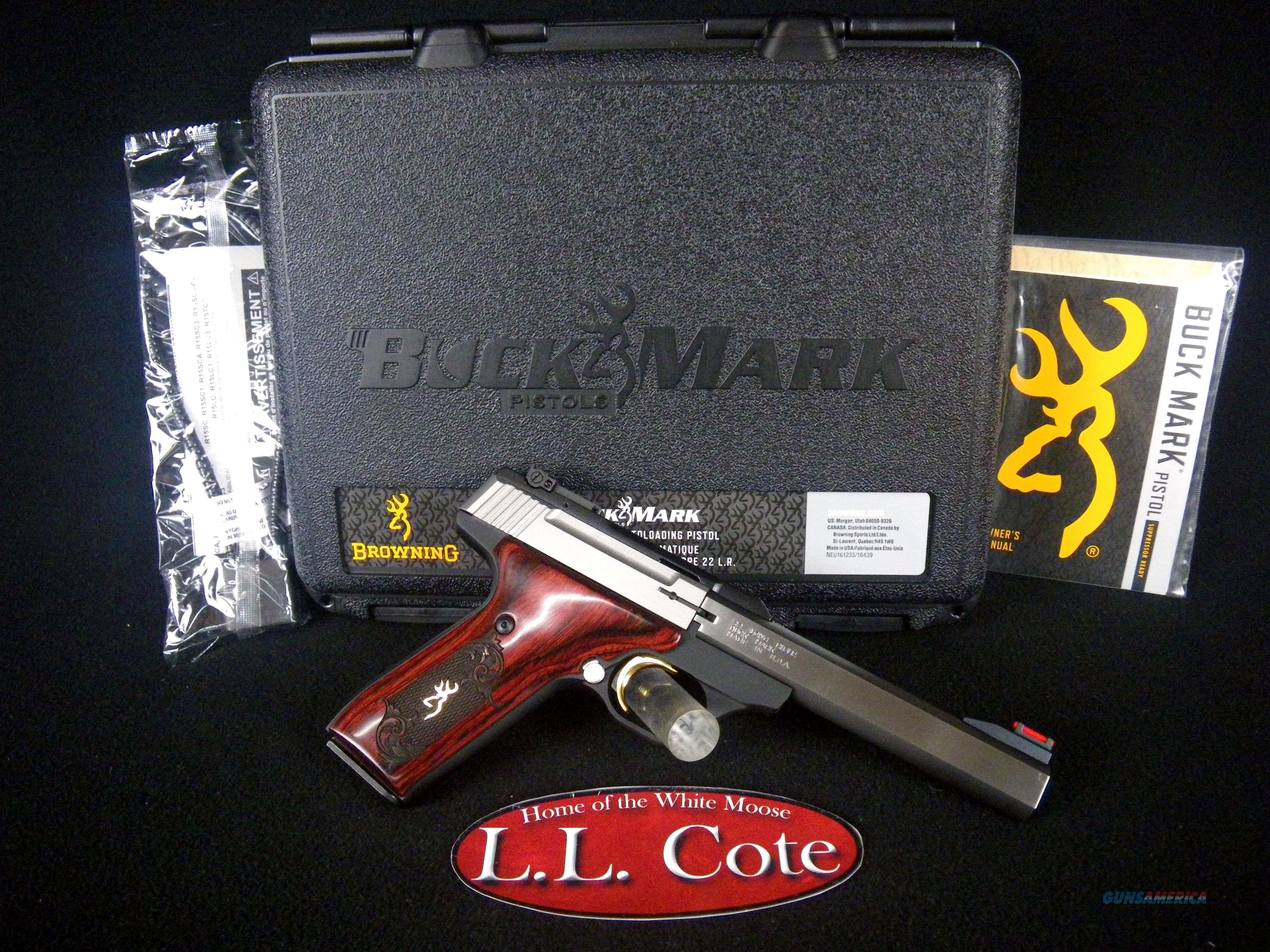 """Browning Buck Mark Medallion 22lr 5.5"""" NEW Wood 051543490  Guns > Pistols > Browning Pistols > Buckmark"""
