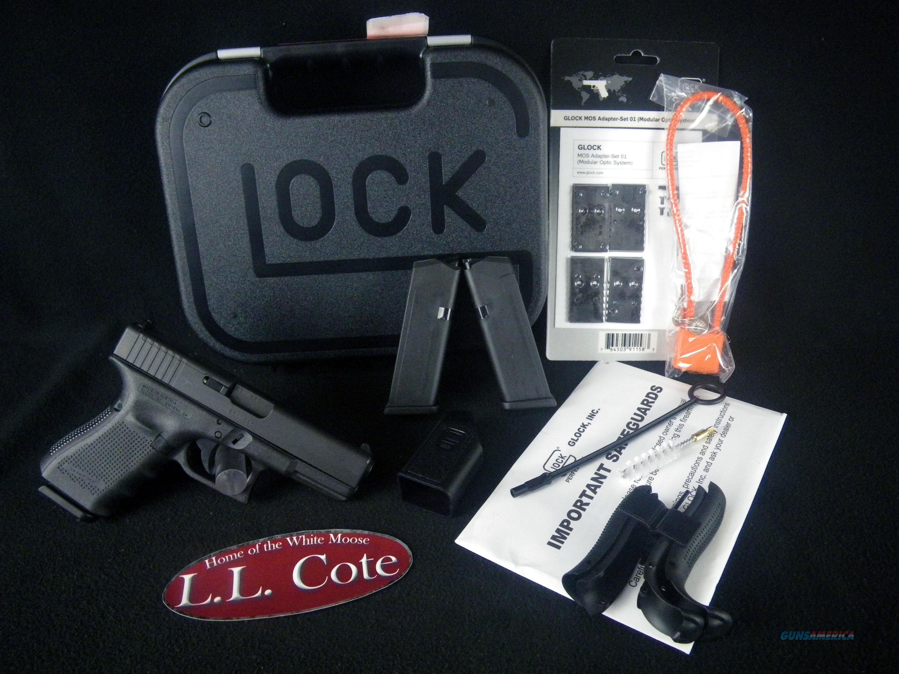 """Glock 19 Gen 4 9mm 4"""" MOS NEW Black PG1950203MOS  Guns > Pistols > Glock Pistols > 19/19X"""