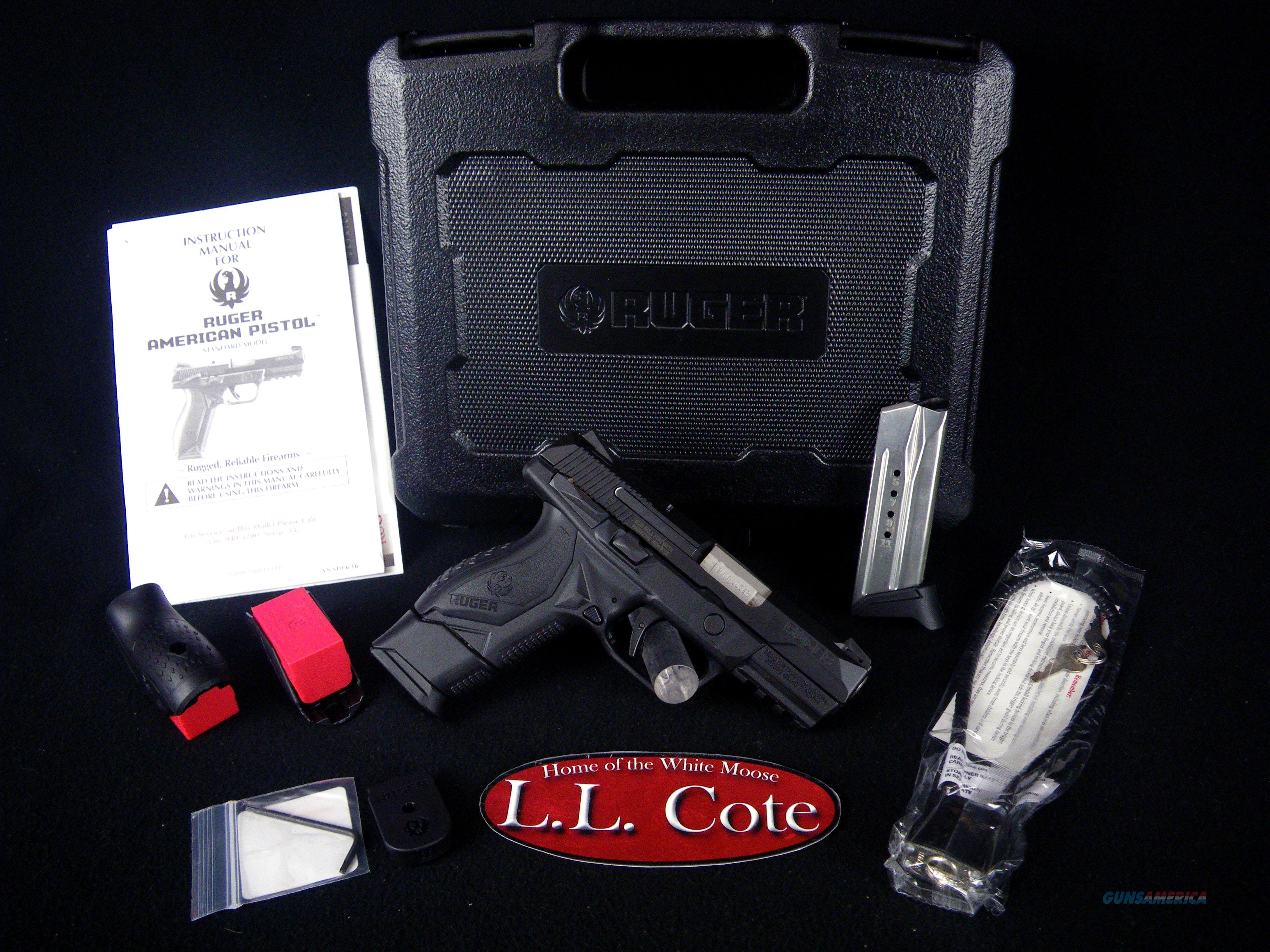 "Ruger American Pistol 9mm 3.55"" Blued NEW 8639  Guns > Pistols > Ruger Semi-Auto Pistols > American Pistol"