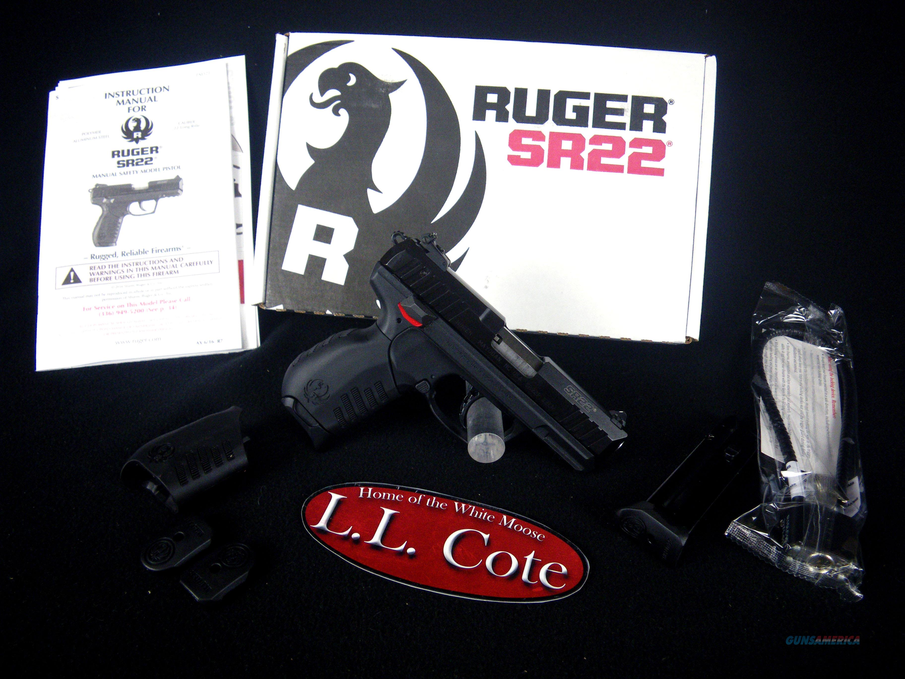 "Ruger SR22 Black/Synthetic 22lr 3.5"" NEW 3600  Guns > Pistols > Ruger Semi-Auto Pistols > SR Family > SR22"