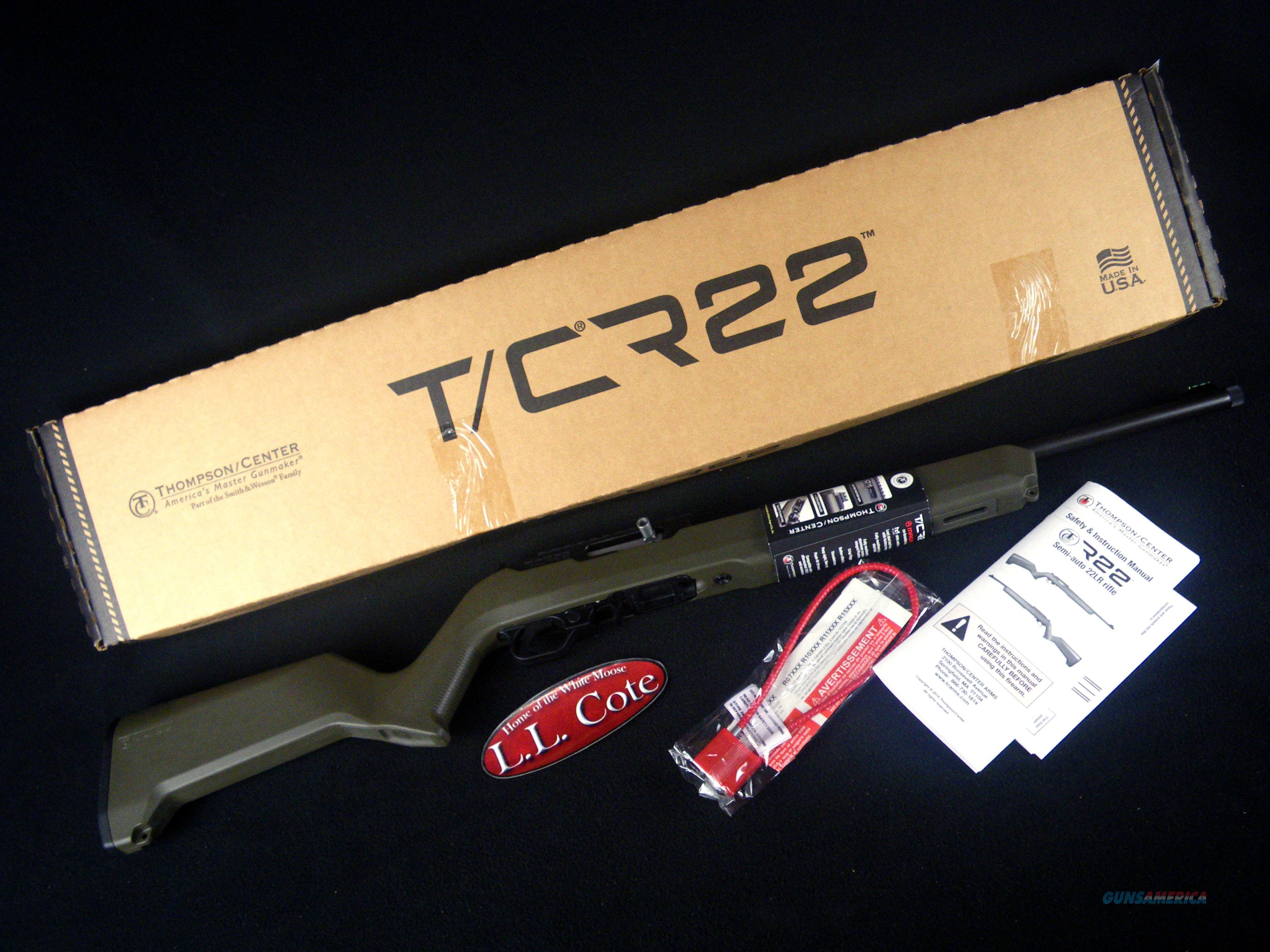"Thompson Center T/CR22 22lr 17"" OD Green NEW 12299  Guns > Rifles > Thompson Center Rifles > Contender"