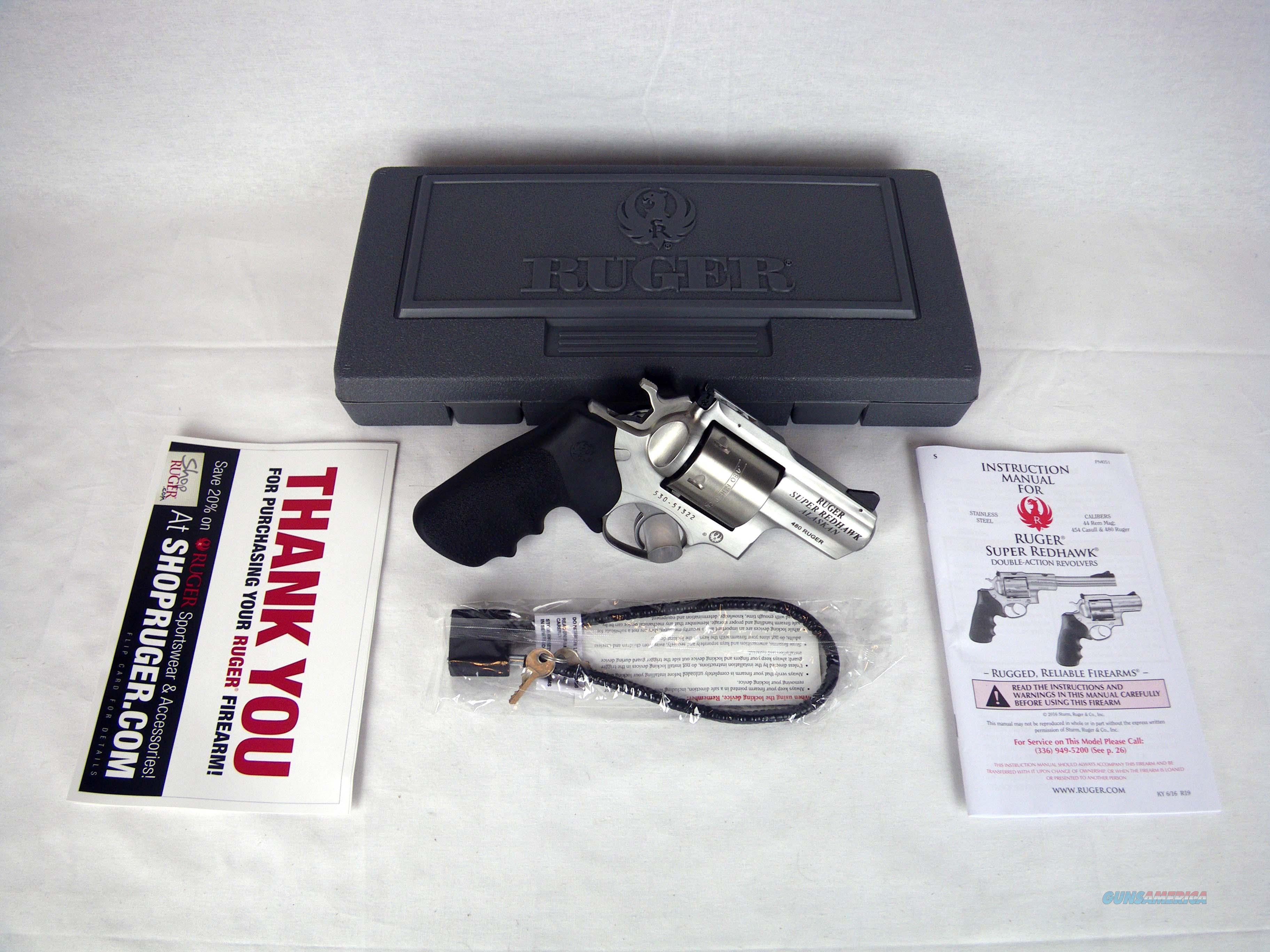"""Ruger Super Redhawk Alaskan 480 Ruger 2.5"""" NEW 5302  Guns > Pistols > Ruger Double Action Revolver > Redhawk Type"""