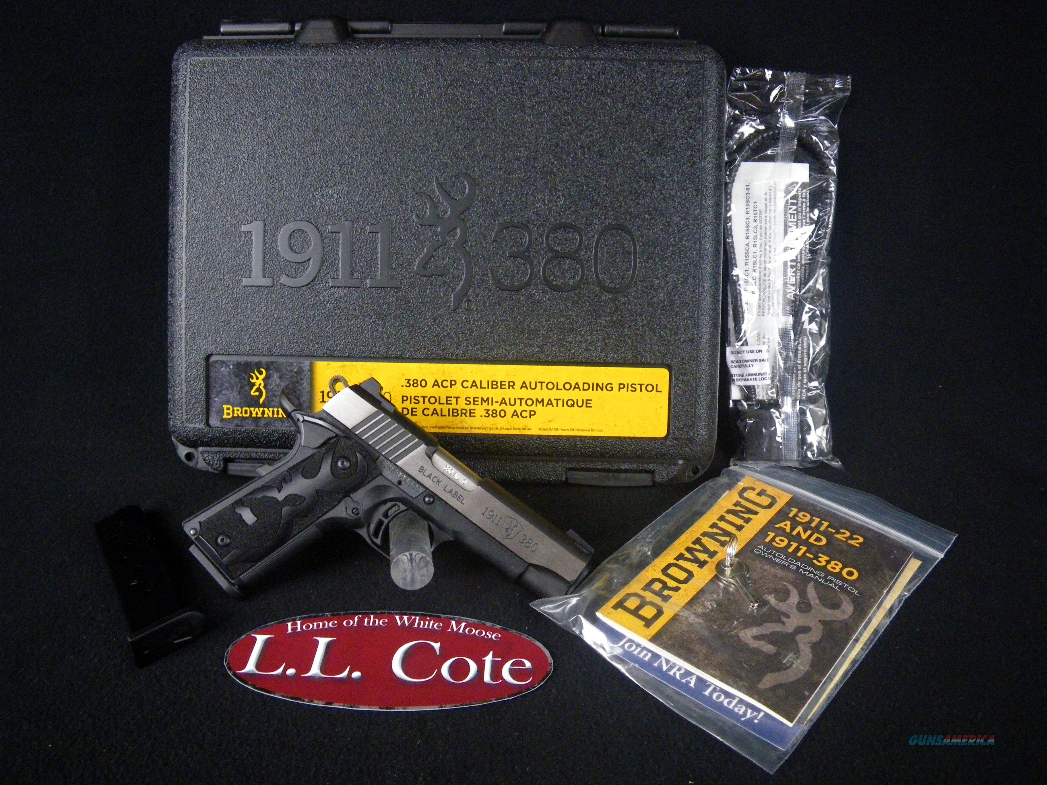 Browning 1911-380 Black Label Medallion Pro 380ACP NEW 051937492  Guns > Pistols > Browning Pistols > Other Autos