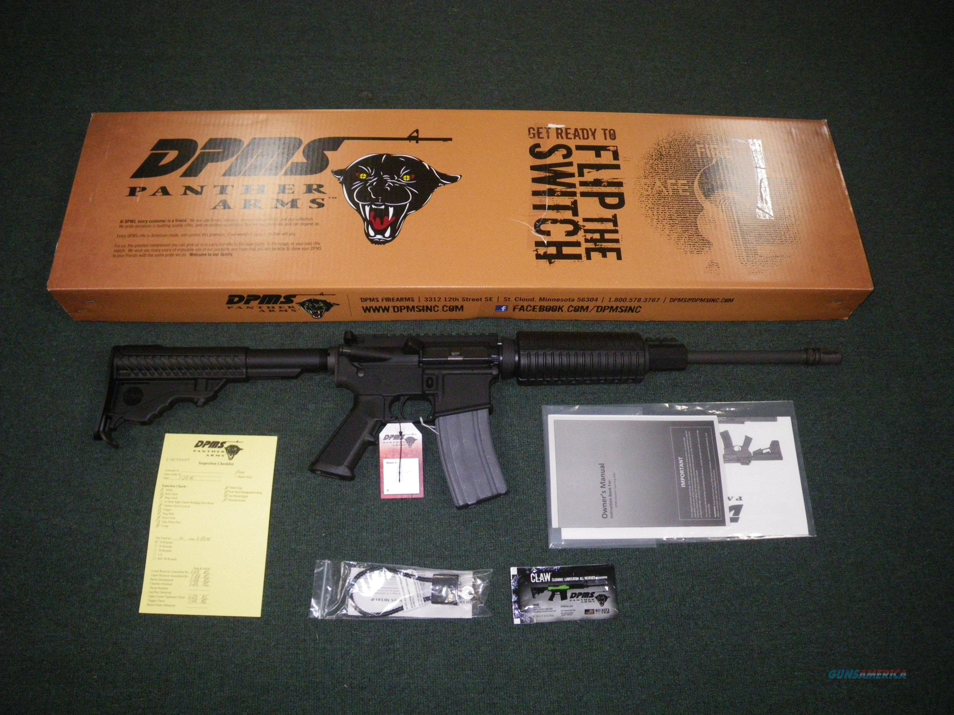 "DPMS Oracle 223 Rem 5.56 Nato 16"" Flat Top RFA3-OC Item #60531  Guns > Rifles > DPMS - Panther Arms > Complete Rifle"
