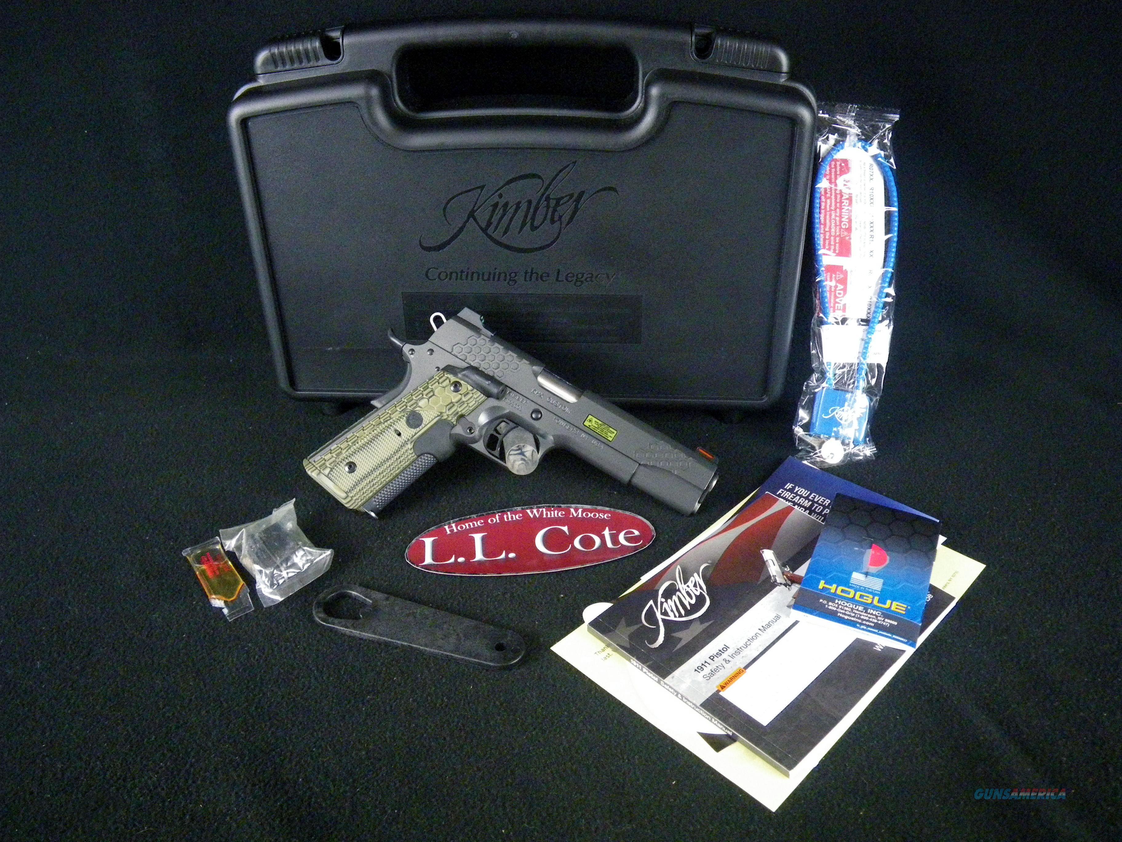 "Kimber KHX Custom Lasergrips 45ACP 5"" NEW 3000358  Guns > Pistols > Kimber of America Pistols > 1911"