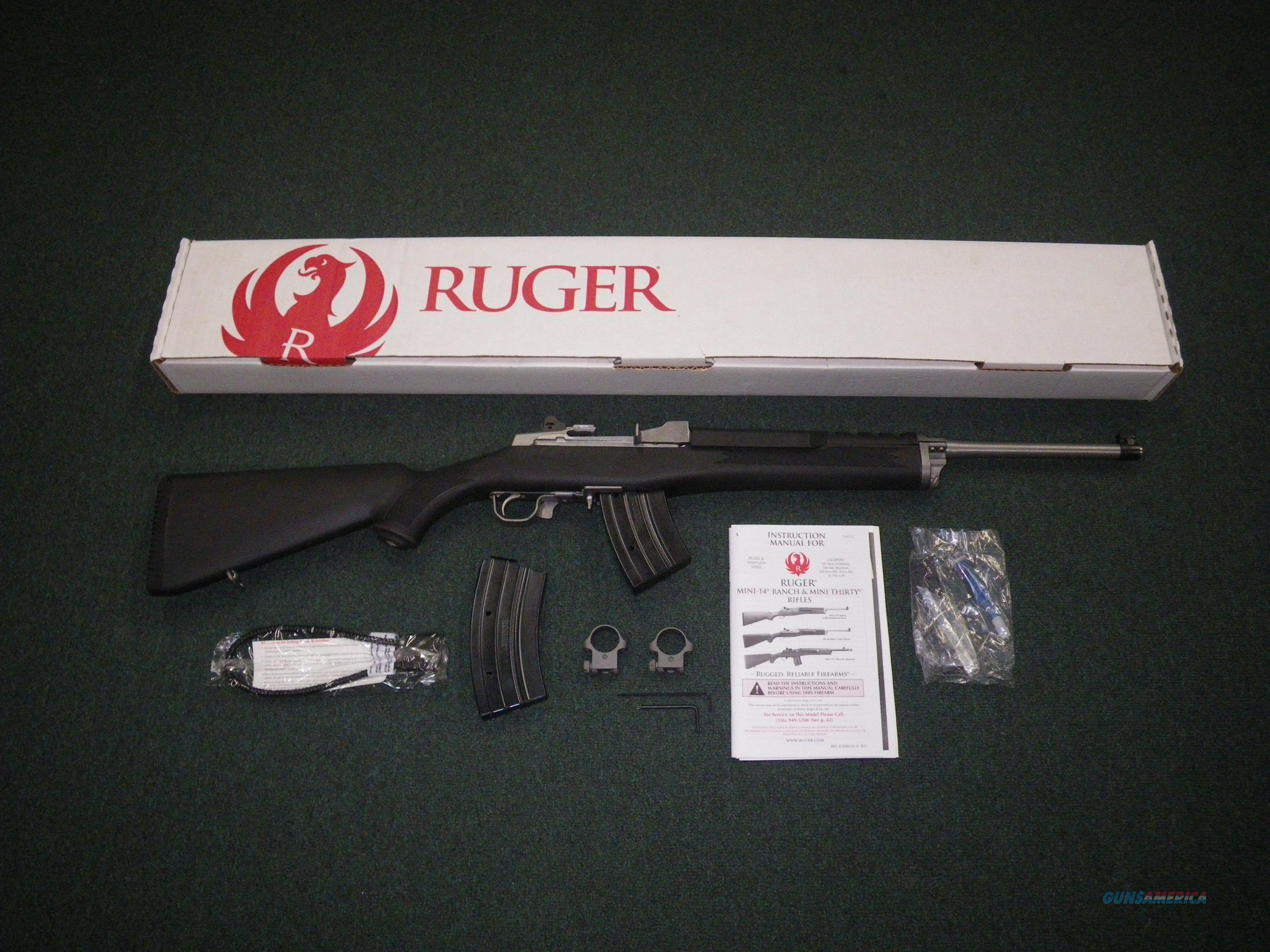 """Ruger Mini Thirty Rifle Stainless 7.62x39 18.5"""" NEW 5853  Guns > Rifles > Ruger Rifles > Mini-14 Type"""