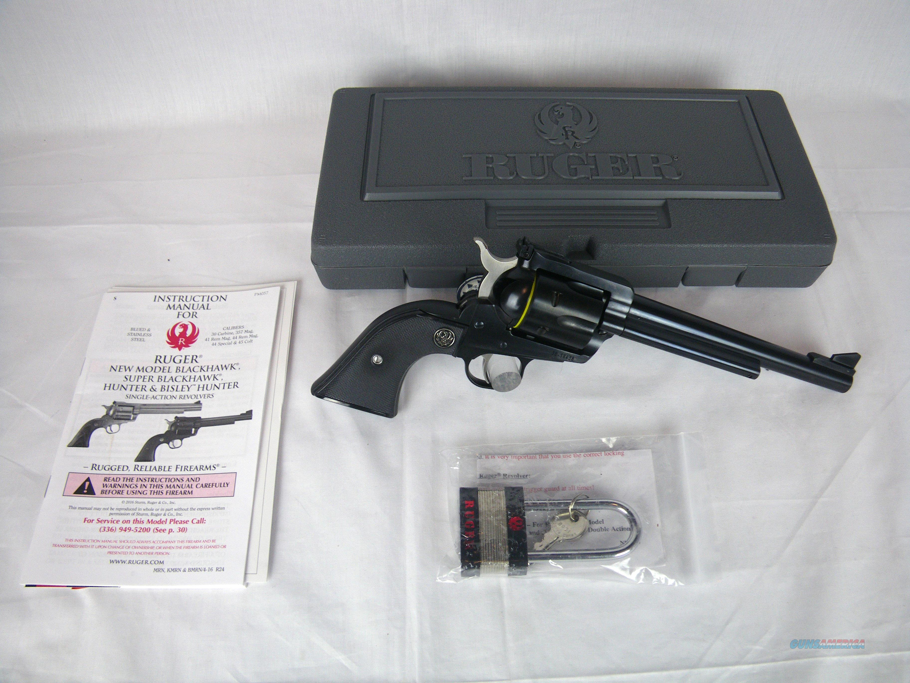 "Ruger Blackhawk New Model 30 Carbine 7.5"" NEW #0505  Guns > Pistols > Ruger Single Action Revolvers > Blackhawk Type"