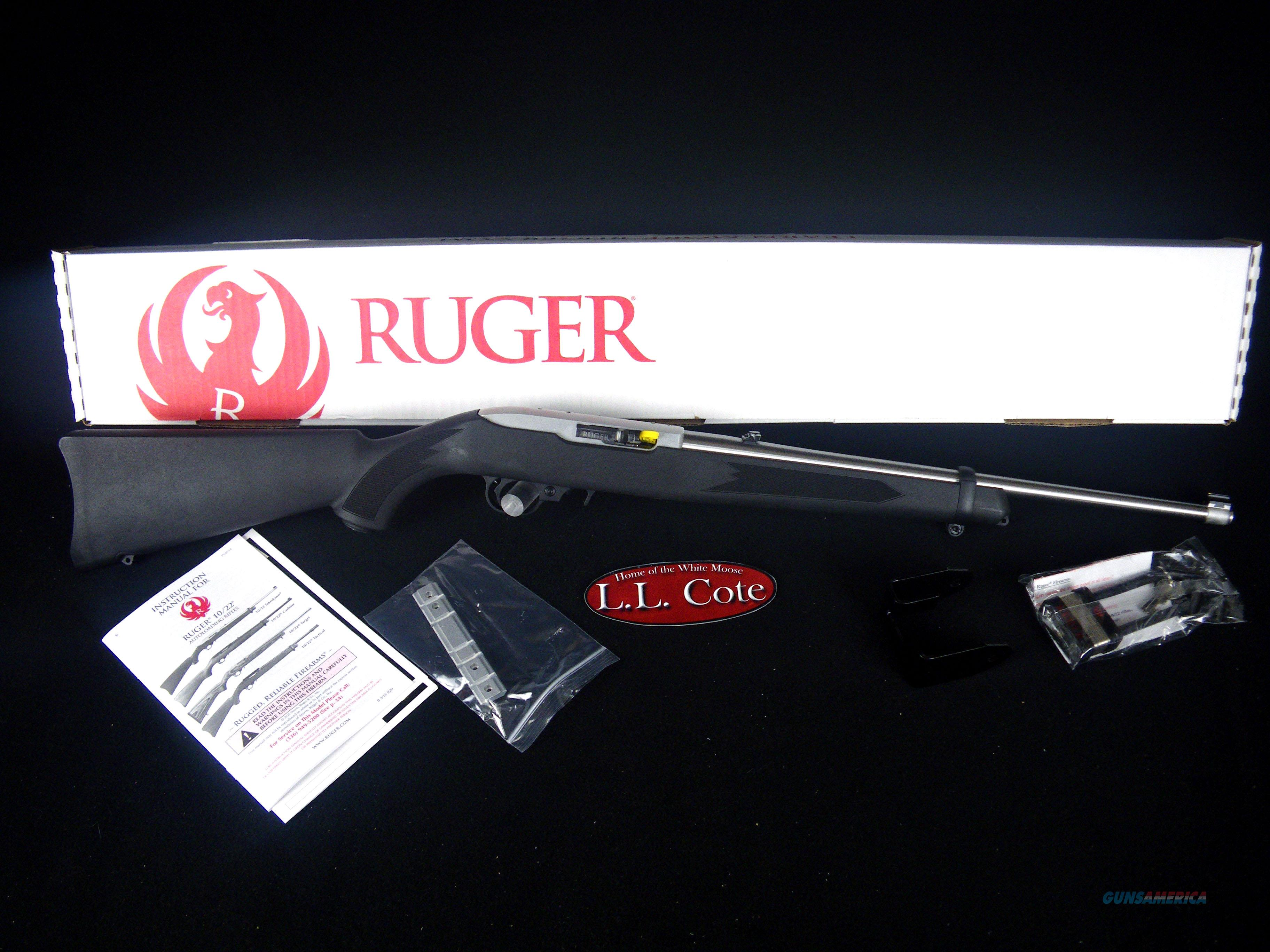 "Ruger 10/22 Carbine 22lr 18.5"" Stainless NEW 1256  Guns > Rifles > Ruger Rifles > 10-22"