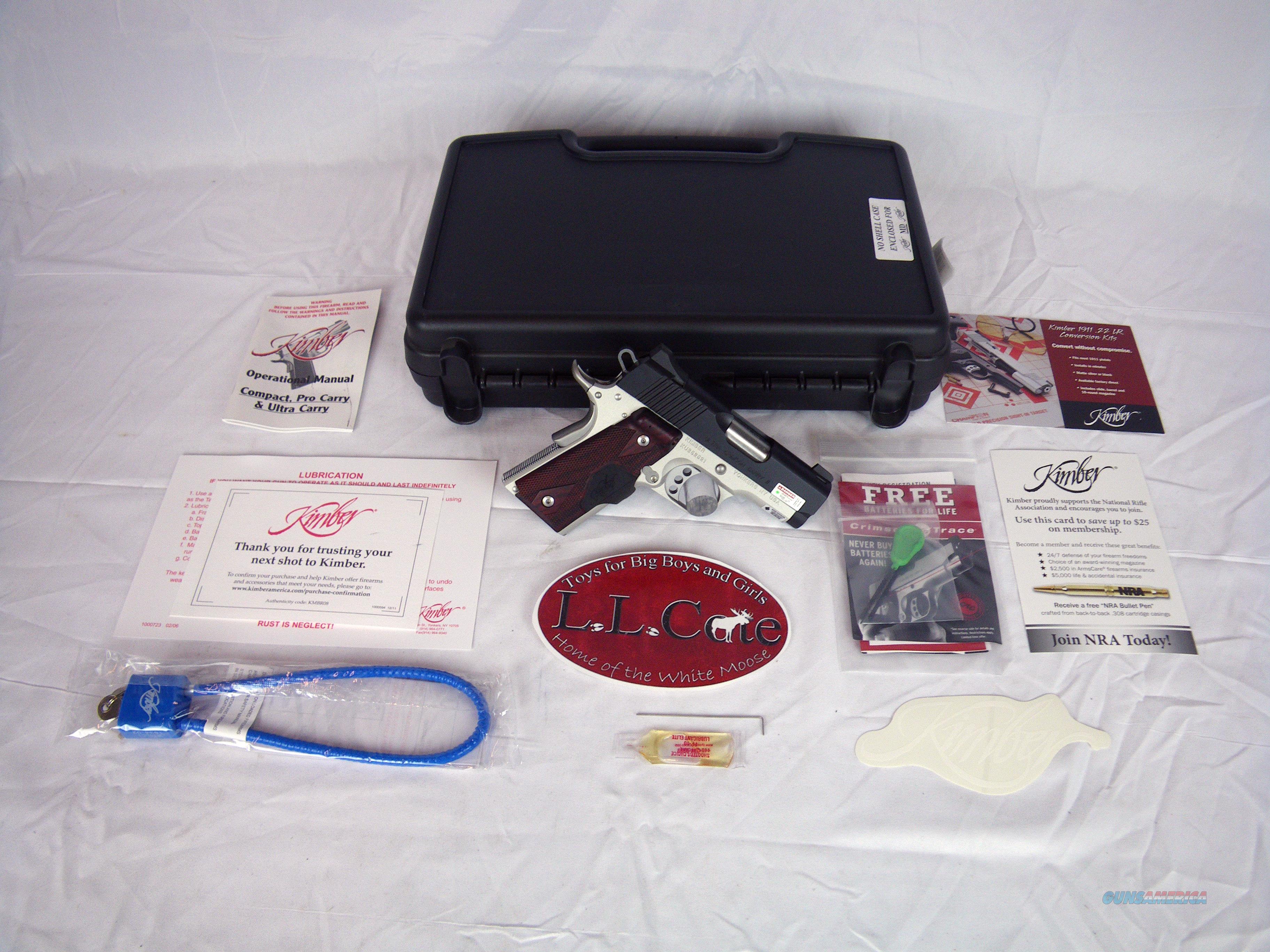 "Kimber Ultra Crimson Carry II 45ACP 3"" Green Laser #3200290  Guns > Pistols > Kimber of America Pistols > 1911"