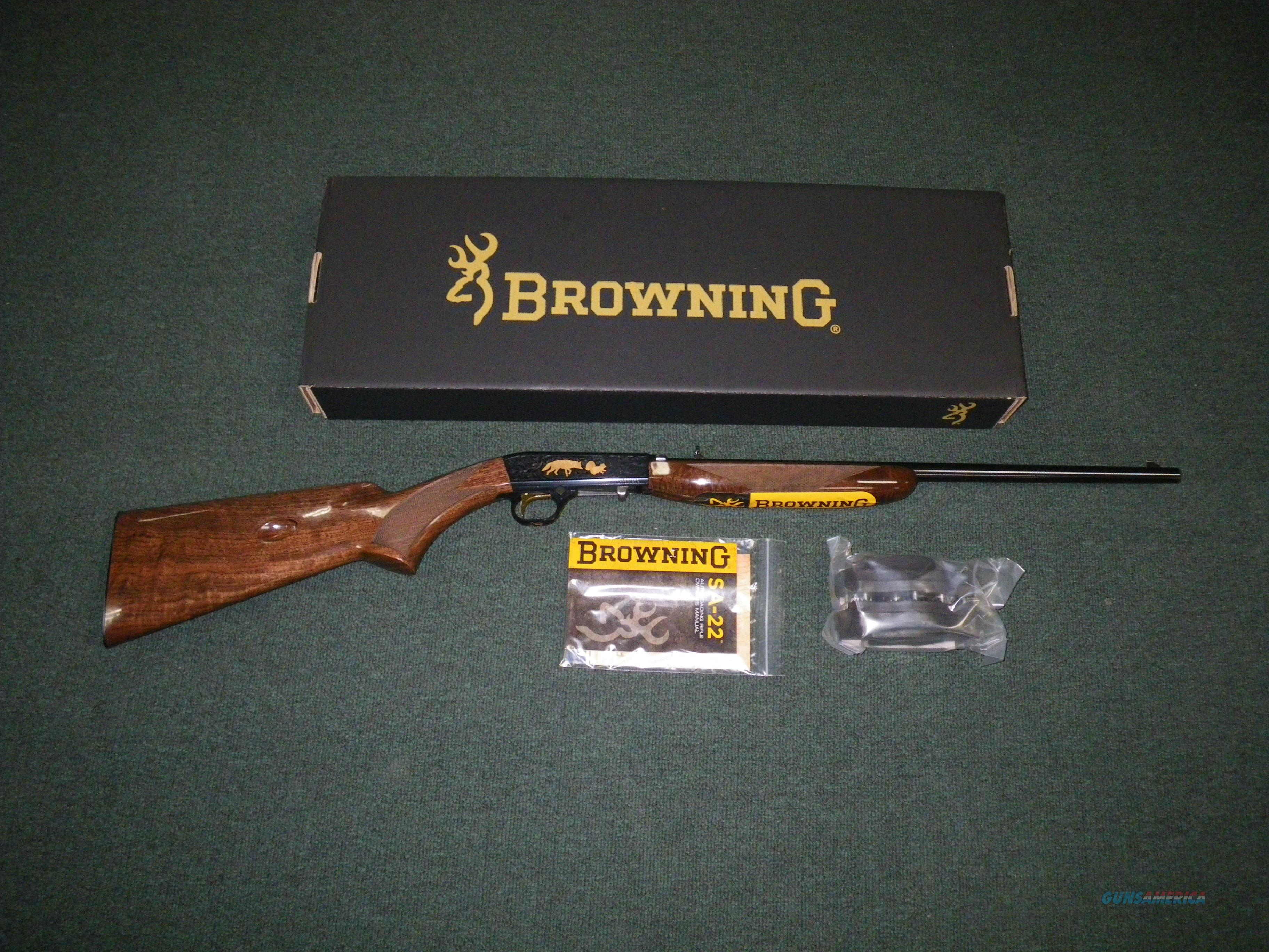 "Browning Semi-Auto 22 Grade VI Blued 22LR 19"" NEW #021002102  Guns > Rifles > Browning Rifles > Semi Auto > Hunting"