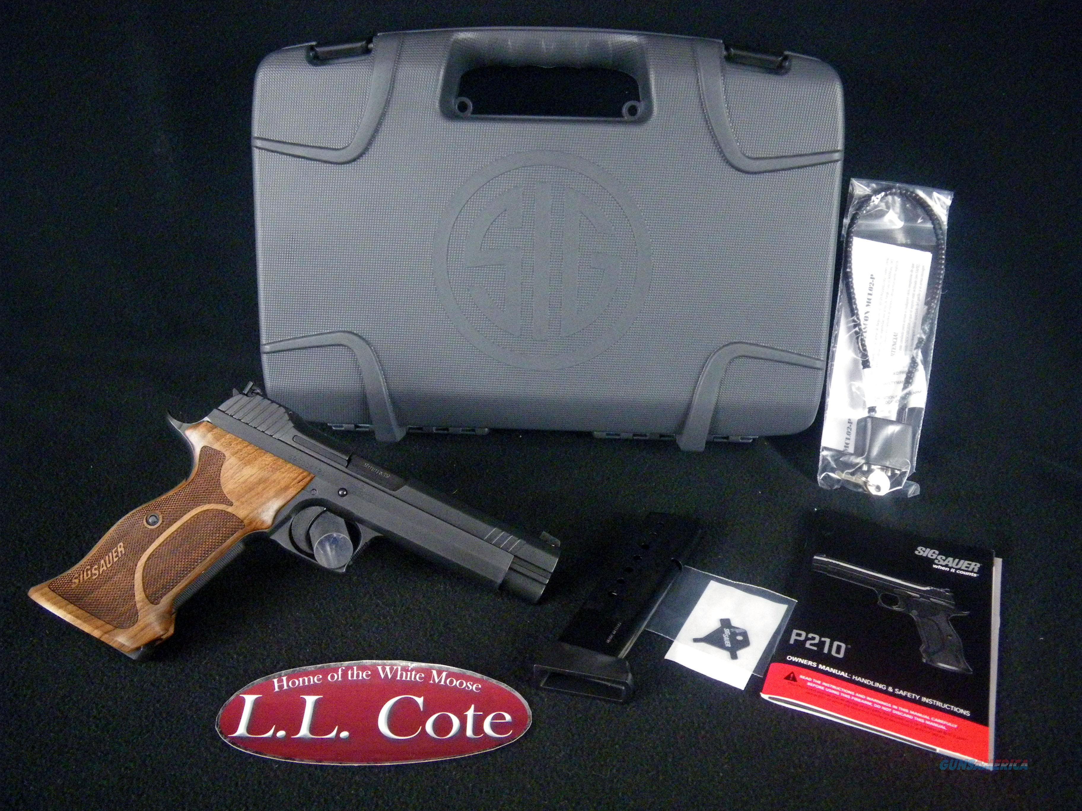 "Sig Sauer P210 Target Wood 9mm 5"" NEW 210A-9-TGT  Guns > Pistols > Sig - Sauer/Sigarms Pistols > Other"