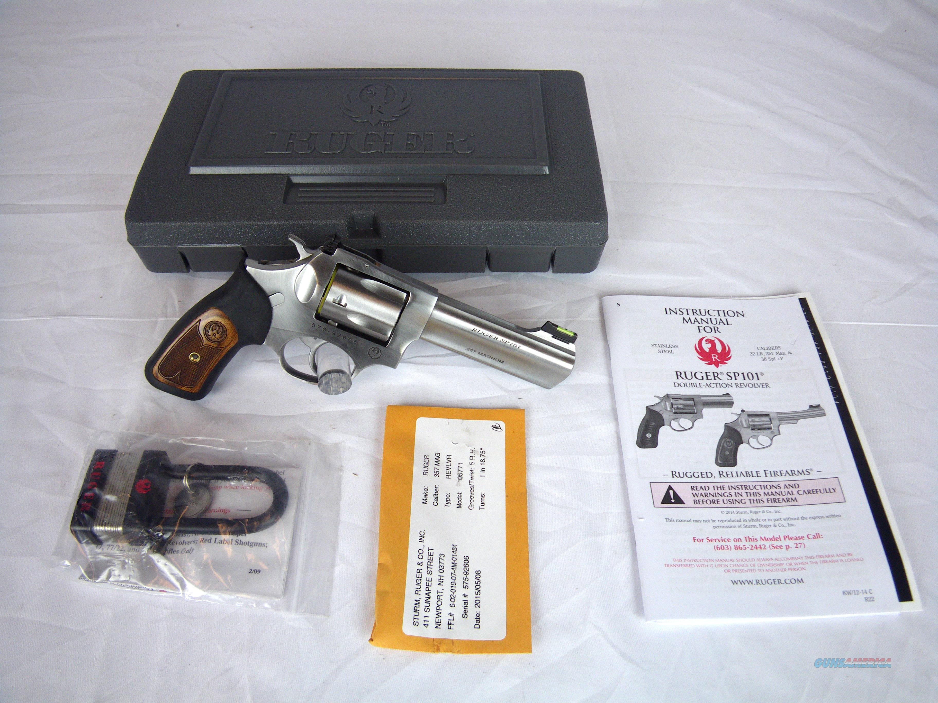 "Ruger SP101 Fiber Optic 357 Mag 4.2"" Revolver New #5771  Guns > Pistols > Ruger Double Action Revolver > SP101 Type"