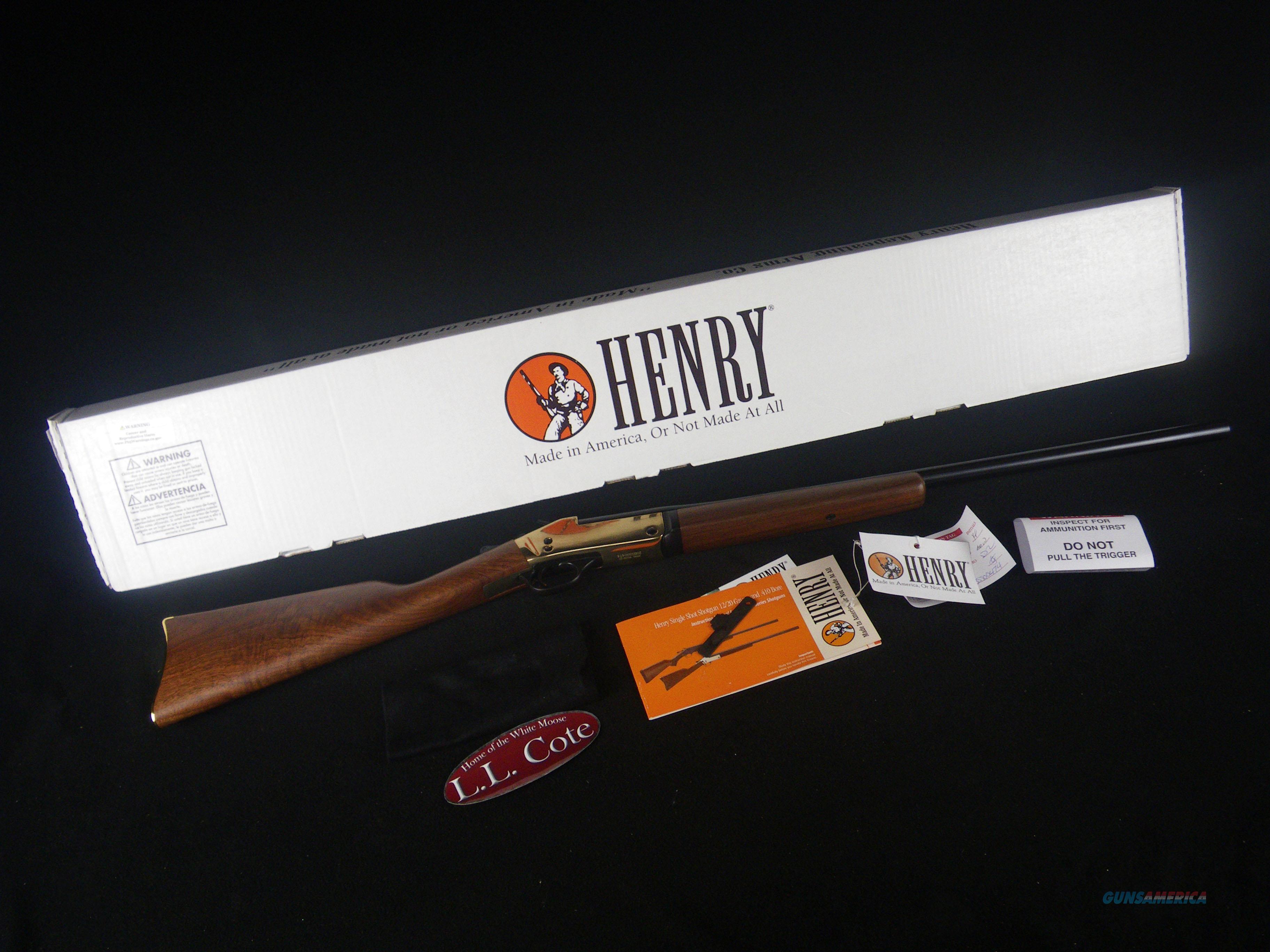"Henry Single Shot Shotgun Brass 12ga 28"" NEW 3.5"" H015B-12  Guns > Shotguns > Henry Shotguns"