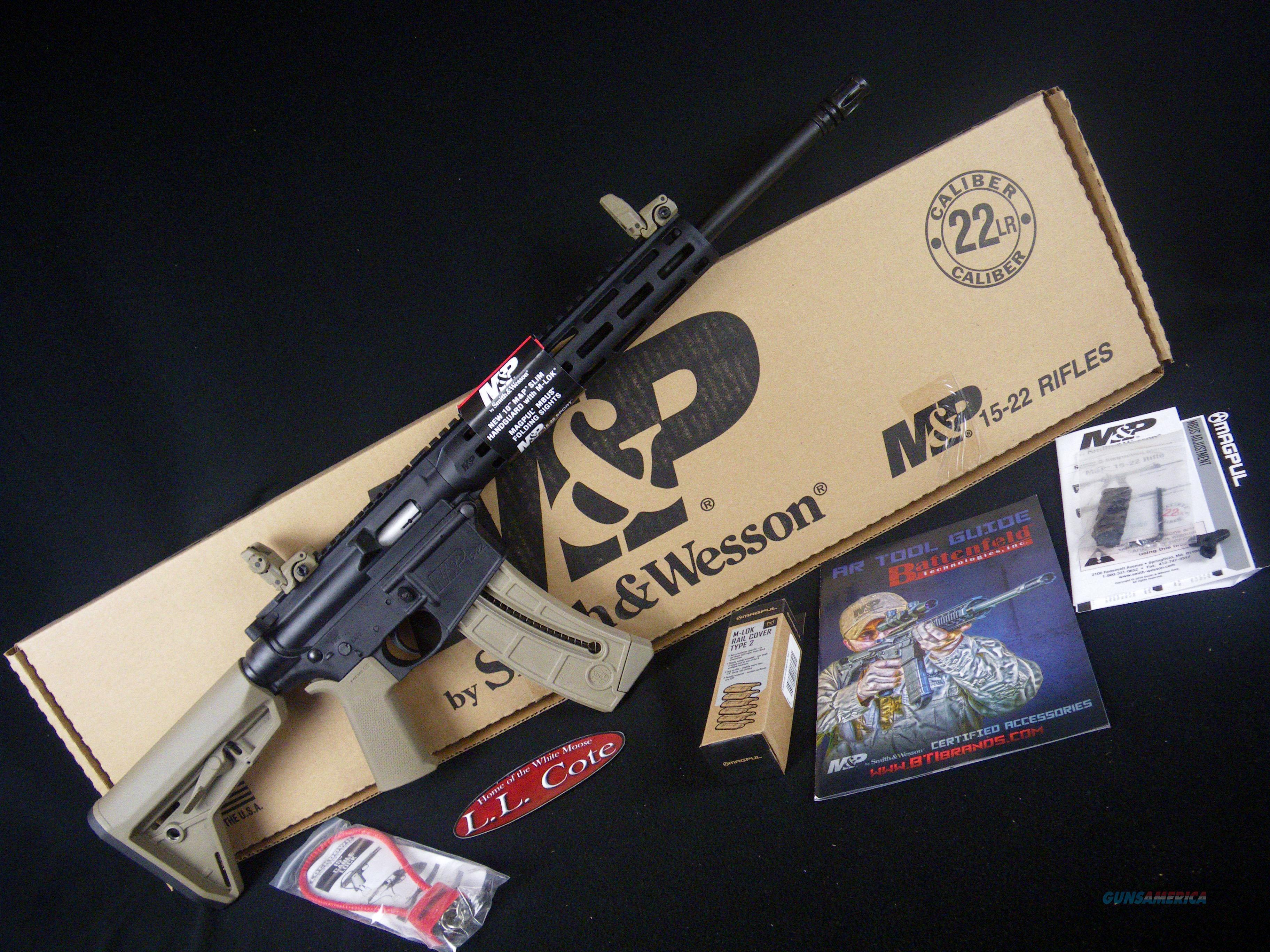 "Smith & Wesson M&P15-22 Sport MOE SL 22lr 16.5"" NEW 10210  Guns > Rifles > Smith & Wesson Rifles > M&P"