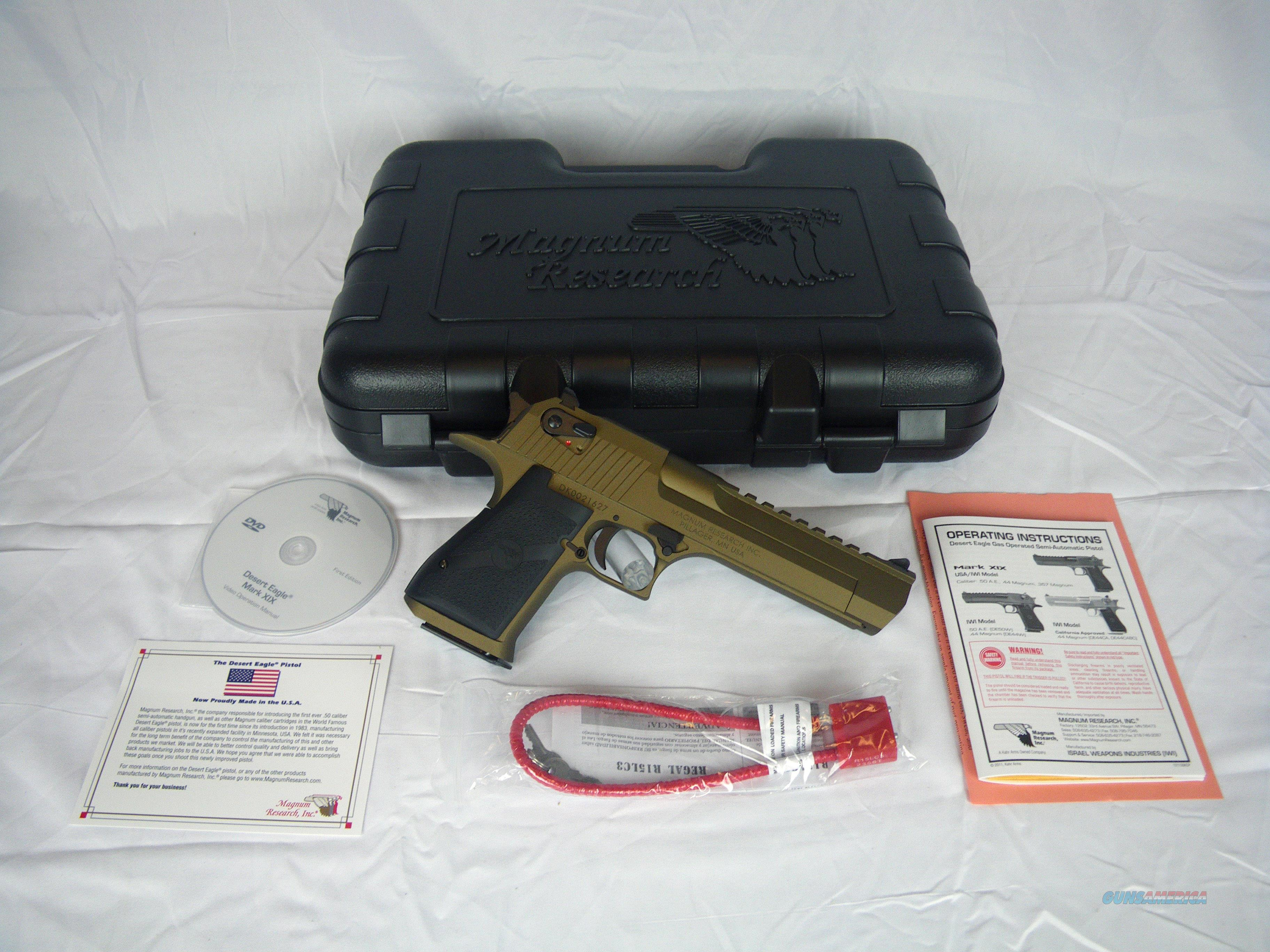 """Desert Eagle Mark XIX Burnt Bronze 44mag 6"""" DE44BB  Guns > Pistols > Magnum Research Pistols"""