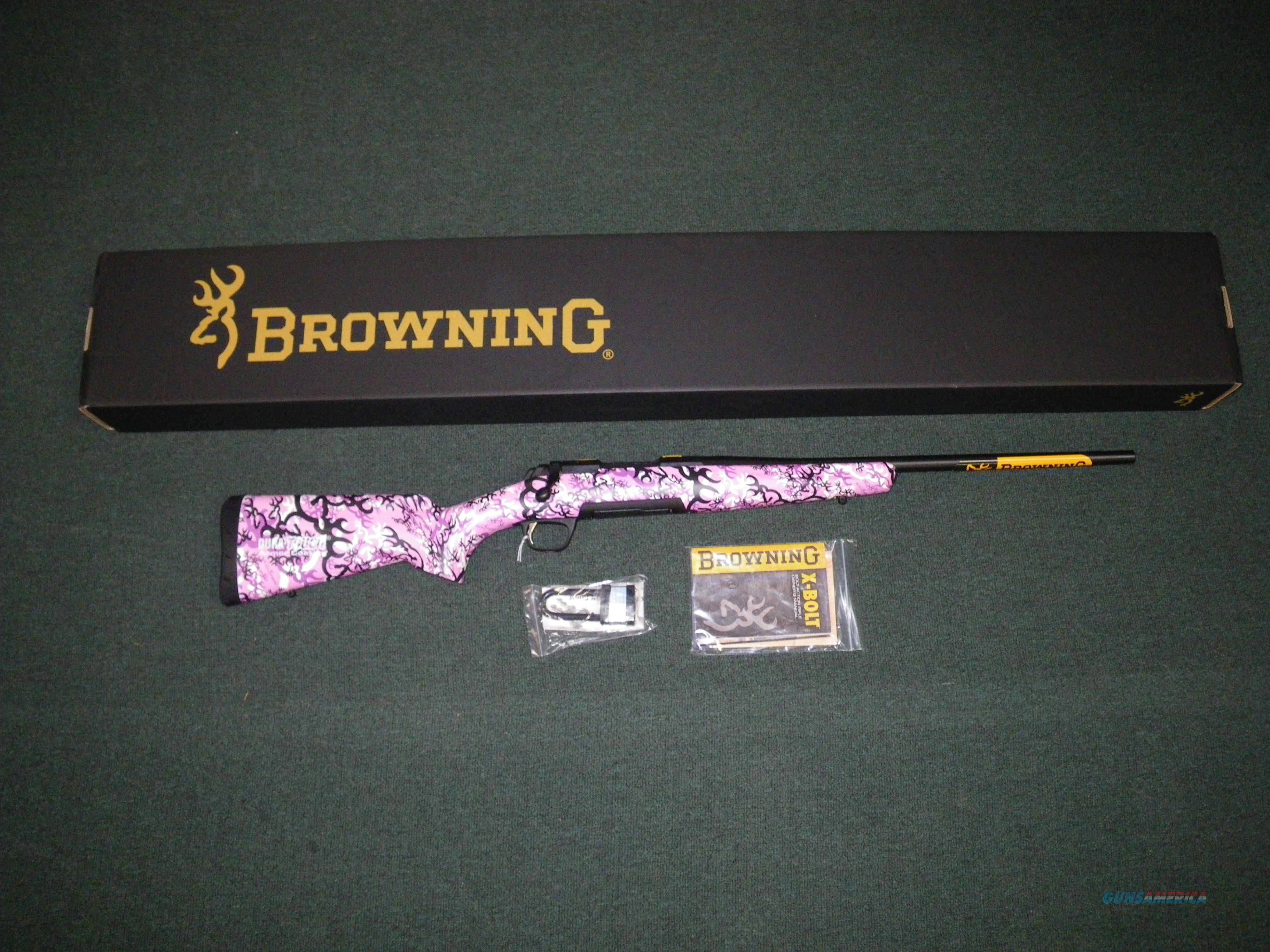 "Browning X-Bolt Micro Buckthorn Pink 243 Win 20"" #035327211  Guns > Rifles > Browning Rifles > Bolt Action > Hunting > Blue"