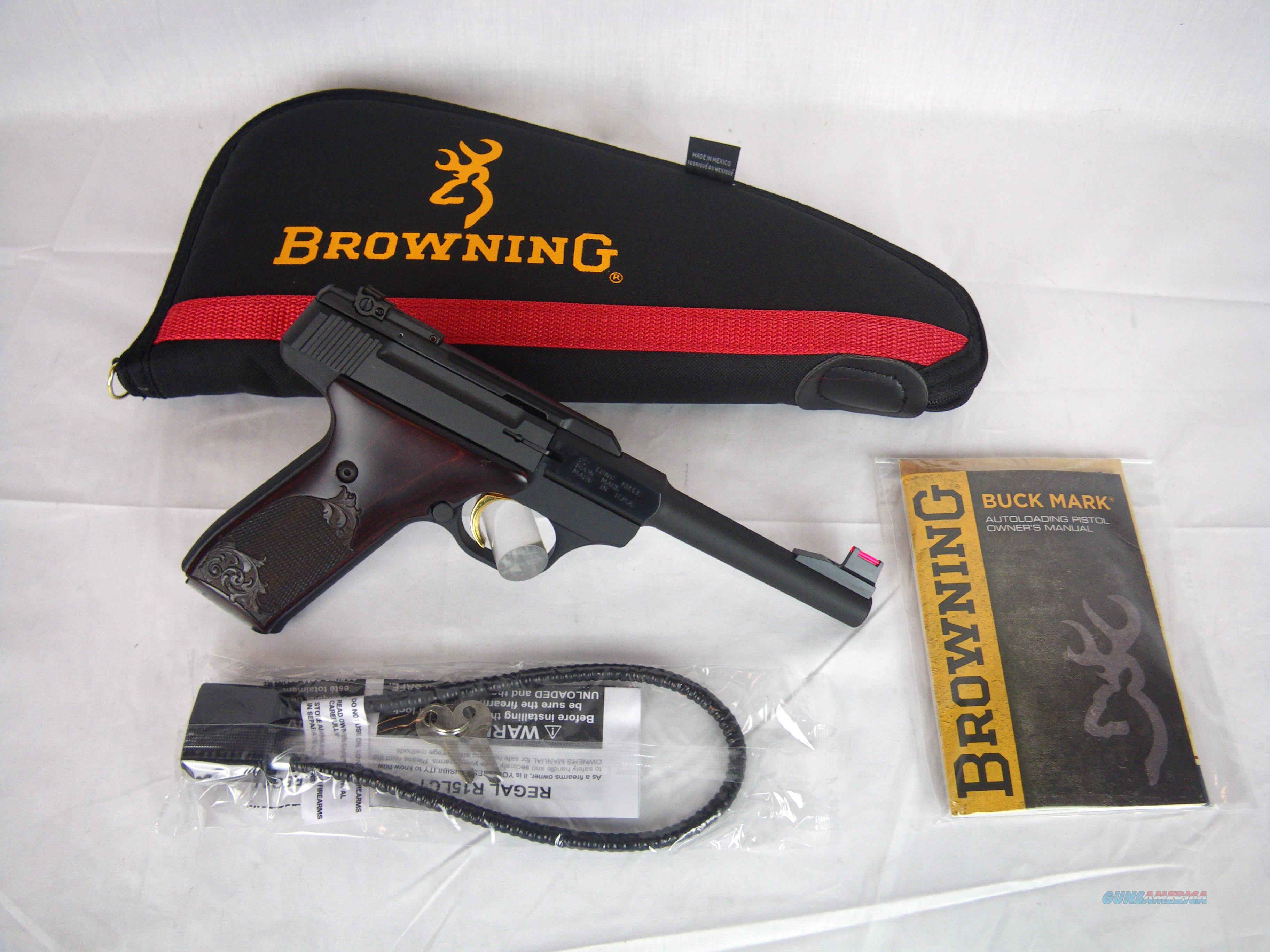 "Browning Buckmark Challenge Rosewood 22lr 5.5"" NEW #051519490  Guns > Pistols > Browning Pistols > Buckmark"