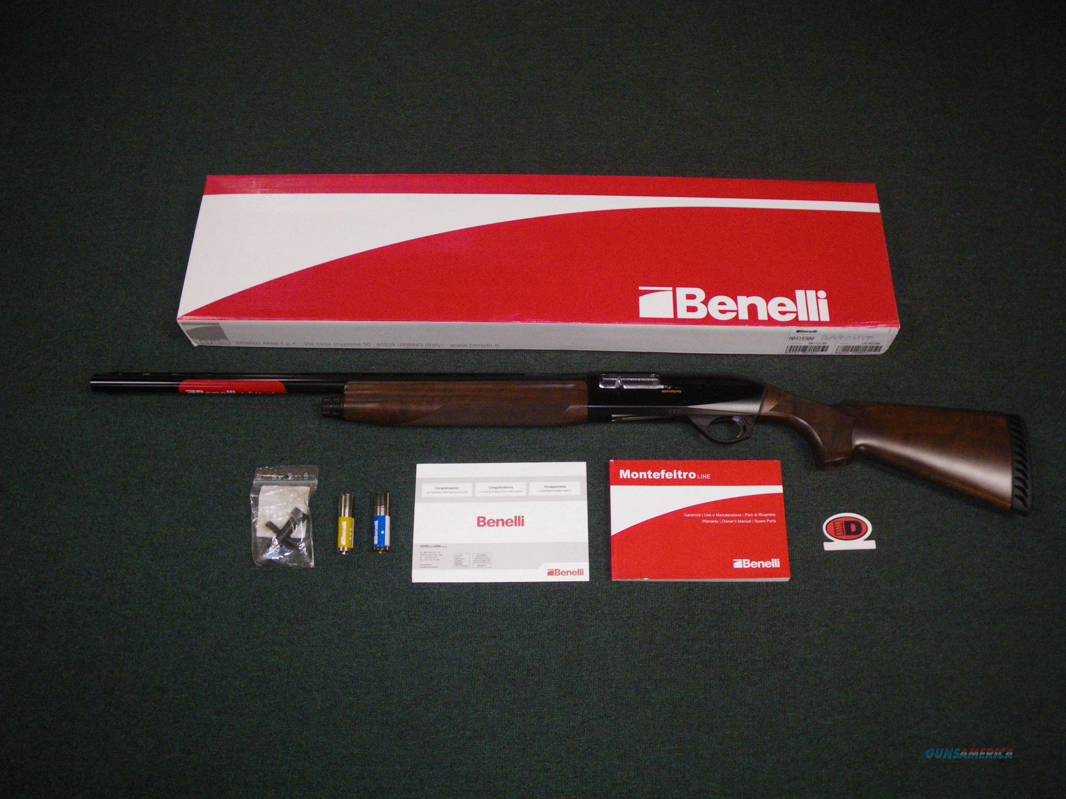 """Benelli Montefeltro Wood LH 12ga 28"""" NEW #10864  Guns > Shotguns > Benelli Shotguns > Sporting"""