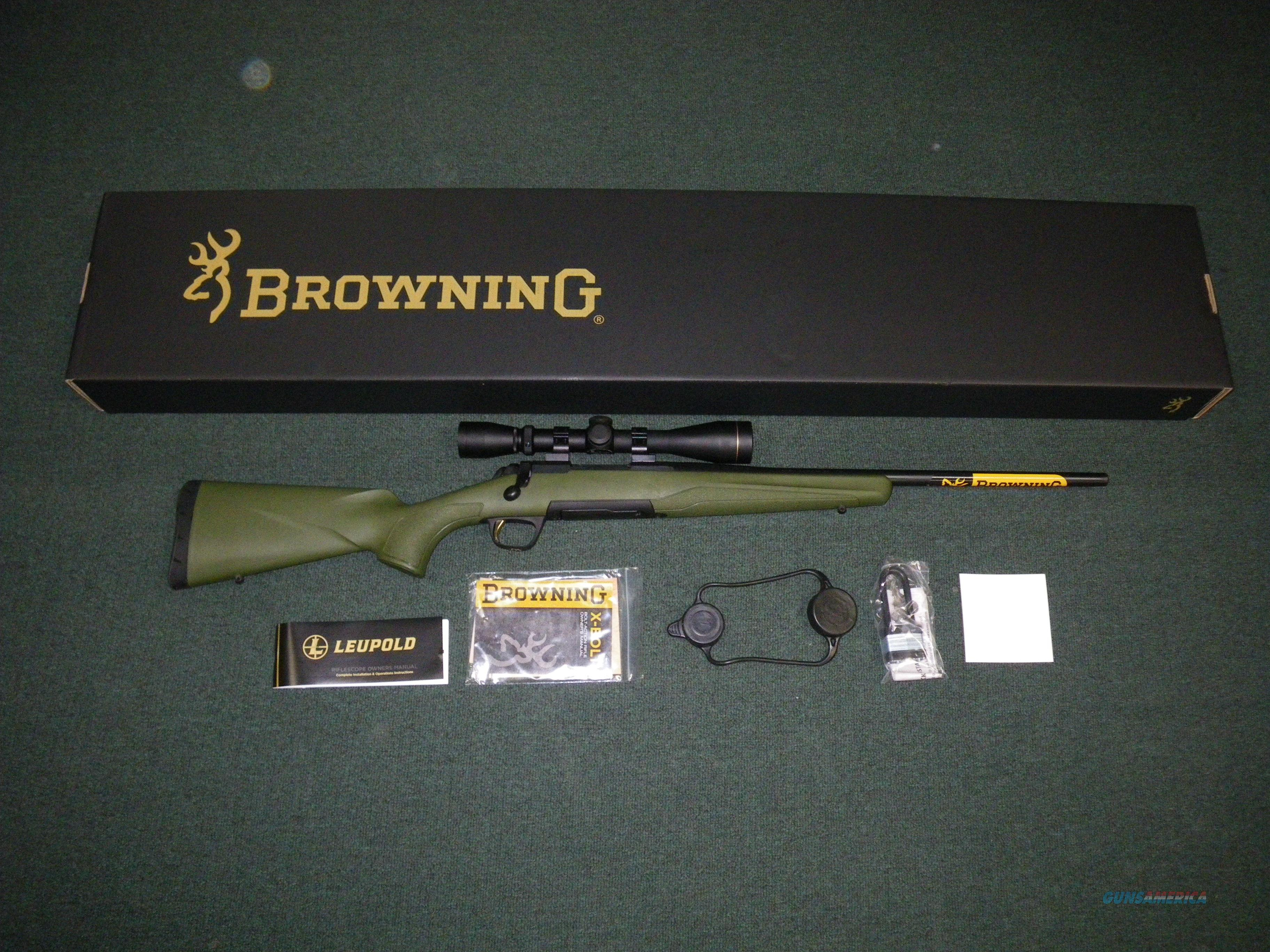 "Browning X-Bolt Carbine Combo Leupold 243 Win 20"" #035391211  Guns > Rifles > Browning Rifles > Bolt Action > Hunting > Blue"