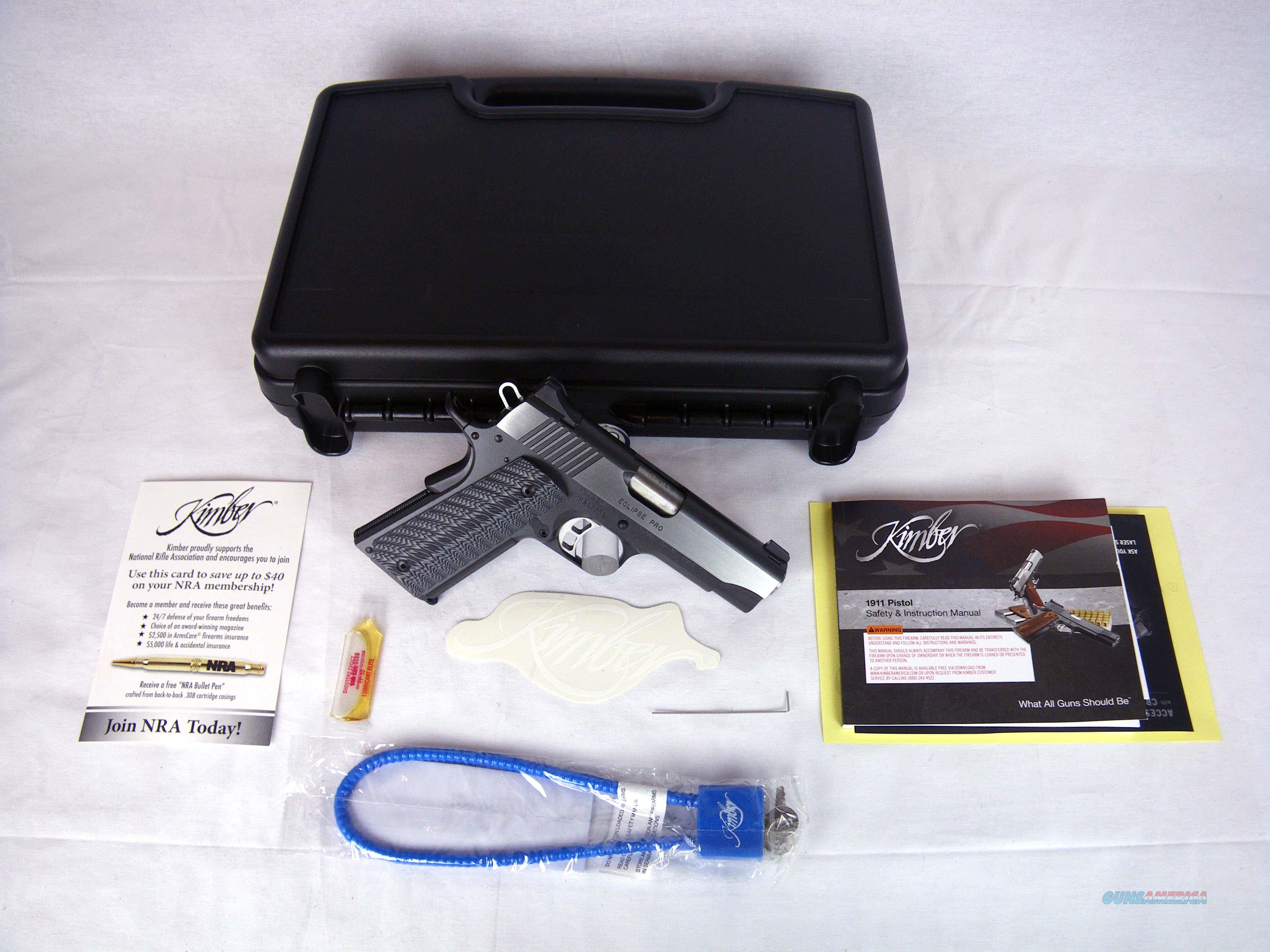 "Kimber Eclipse Pro Night Sight 45ACP 4"" NEW 3000240  Guns > Pistols > Kimber of America Pistols > 1911"