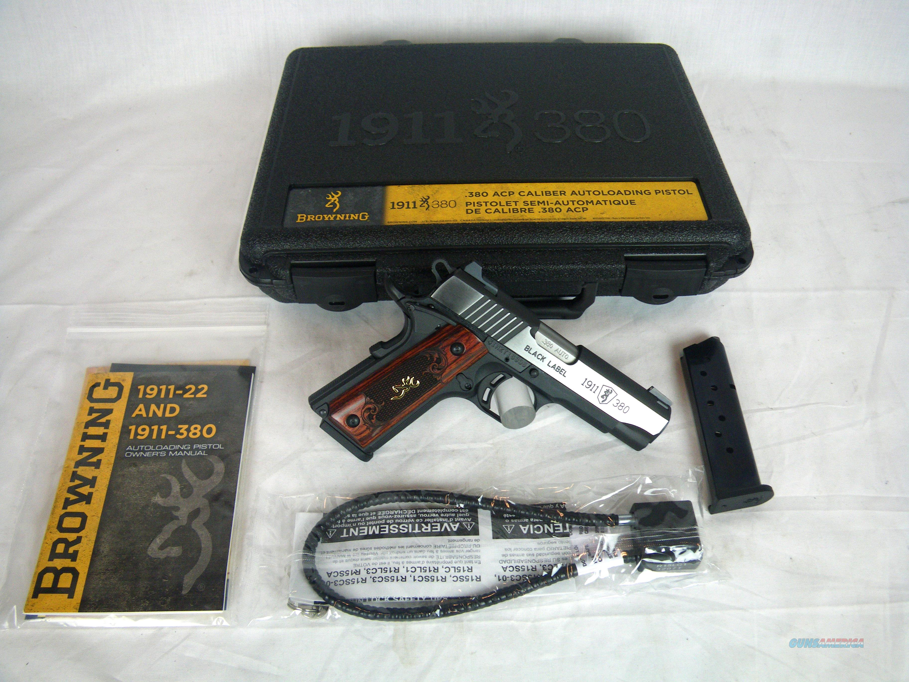 "Browning 1911-380 Medallion Pro Compact 3-5/8"" NEW #051913492  Guns > Pistols > Browning Pistols > Other Autos"