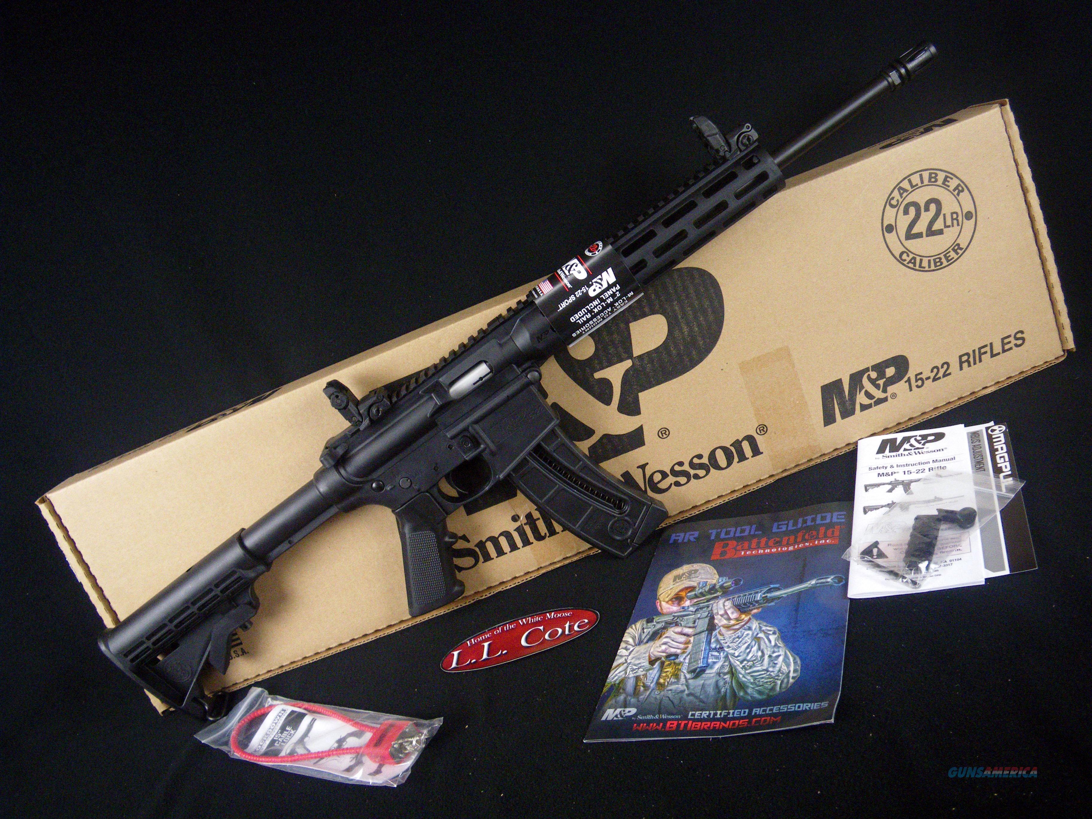 "Smith & Wesson M&P 15-22 Sport 22lr 16.5"" NEW 10208  Guns > Rifles > Smith & Wesson Rifles > M&P"
