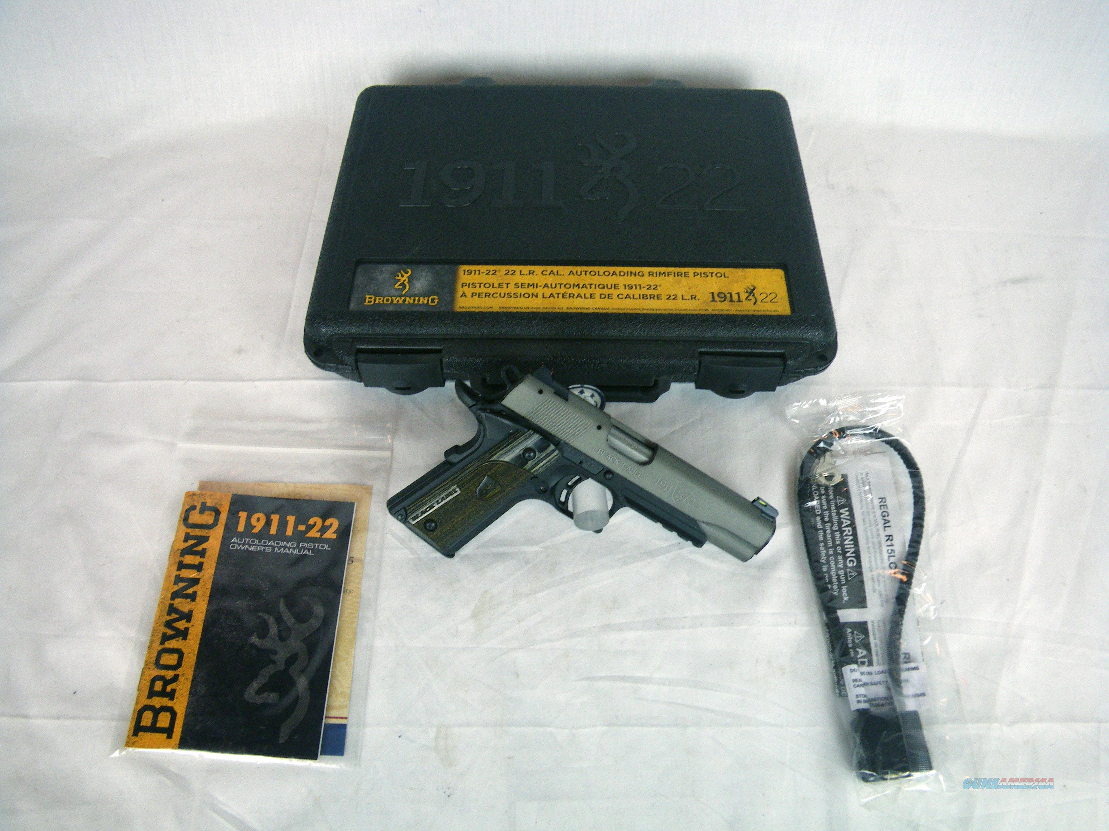 """Browning 1911-22 Gray Full Size W/Rail 22lr 4-1/4"""" #051848490  Guns > Pistols > Browning Pistols > Other Autos"""