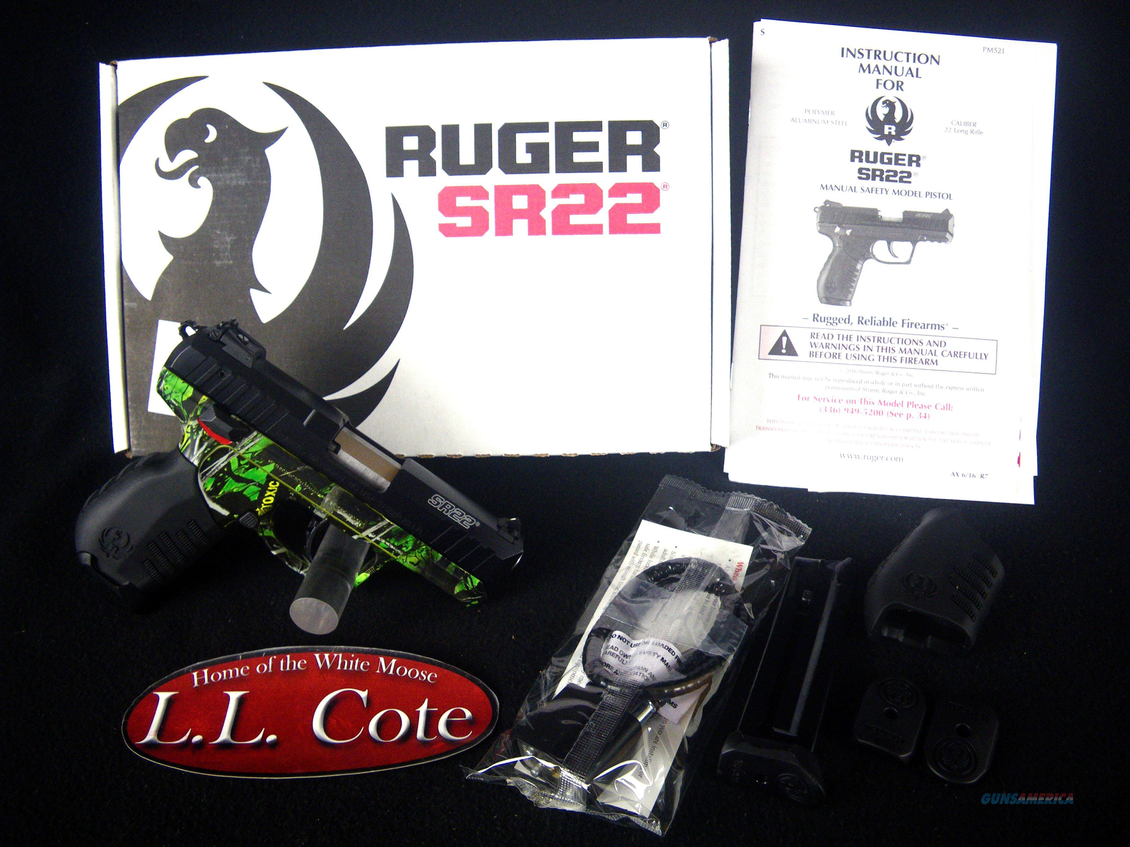 """Ruger SR22 Toxic Green Camo 22lr 3.5"""" NEW 3633  Guns > Pistols > Ruger Semi-Auto Pistols > SR Family > SR22"""