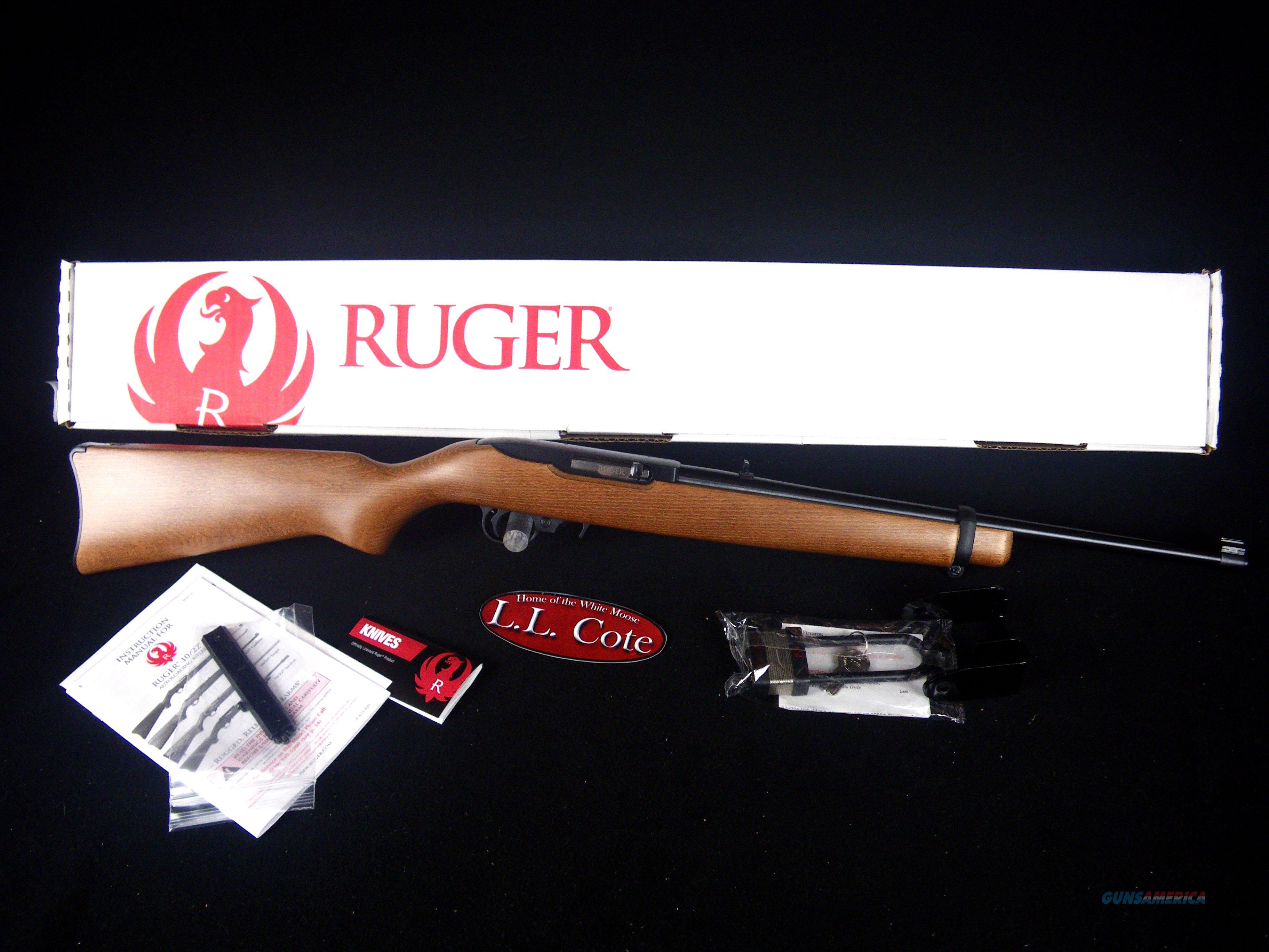 """Ruger 10/22 Carbine 22lr 18.5"""" Wood/Black NEW 1103  Guns > Rifles > Ruger Rifles > 10-22"""