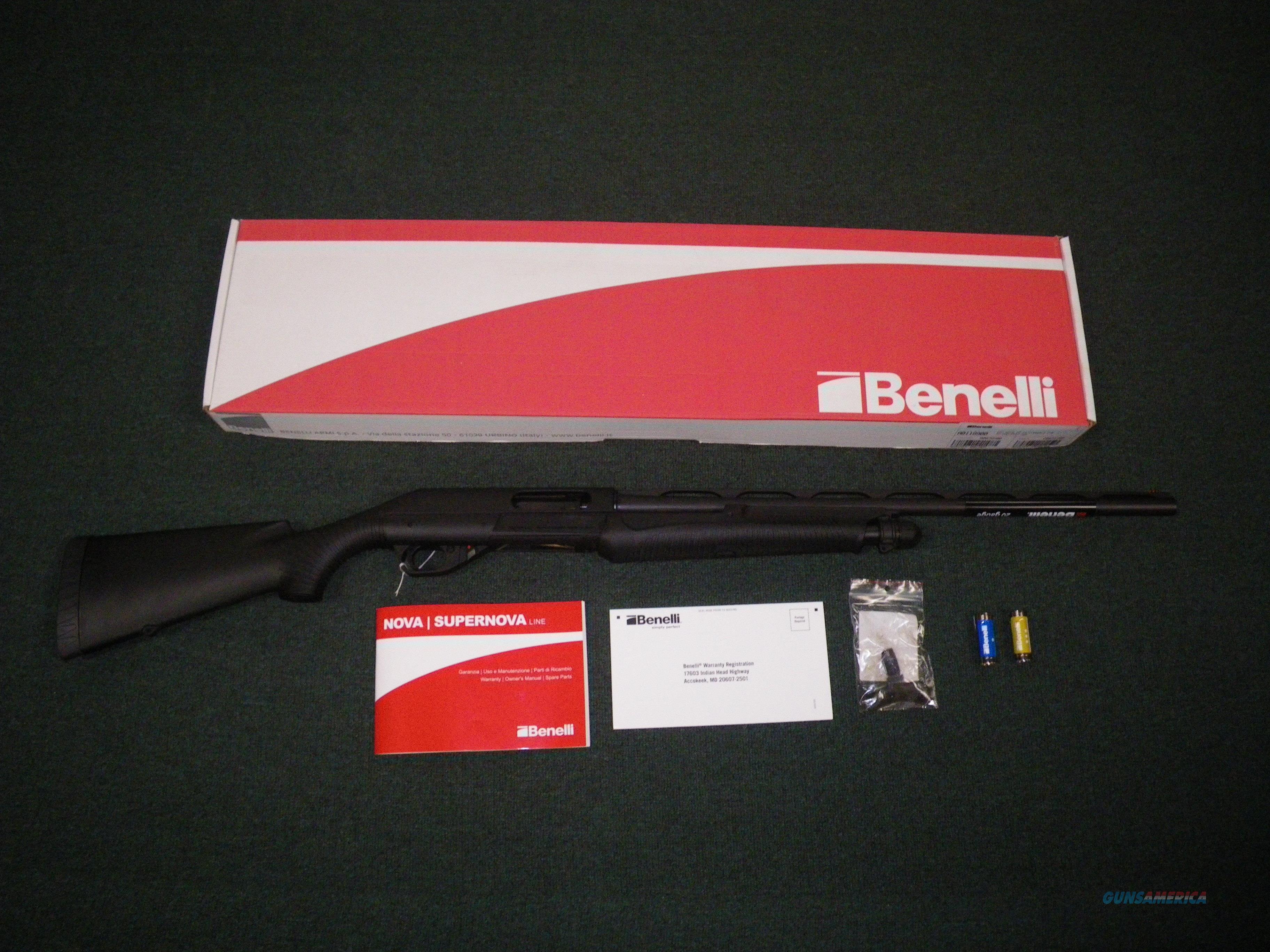 "Benelli Nova Pump Field Shotgun 12ga 26"" 3"" Chmbr #20003  Guns > Shotguns > Benelli Shotguns > Sporting"