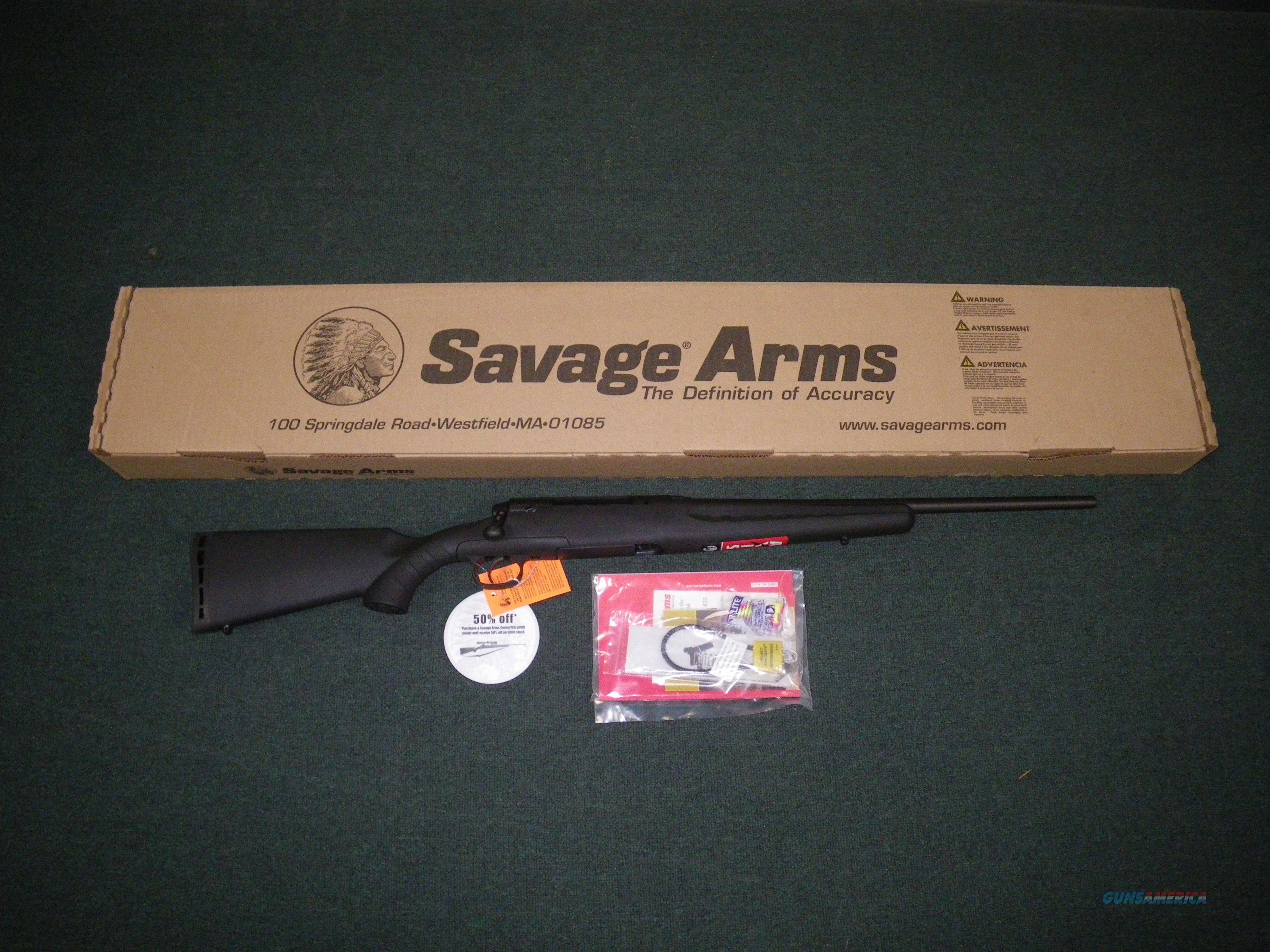 """Savage Axis Youth 7mm-08 Rem 20"""" Black NEW #19196  Guns > Rifles > Savage Rifles > Axis"""