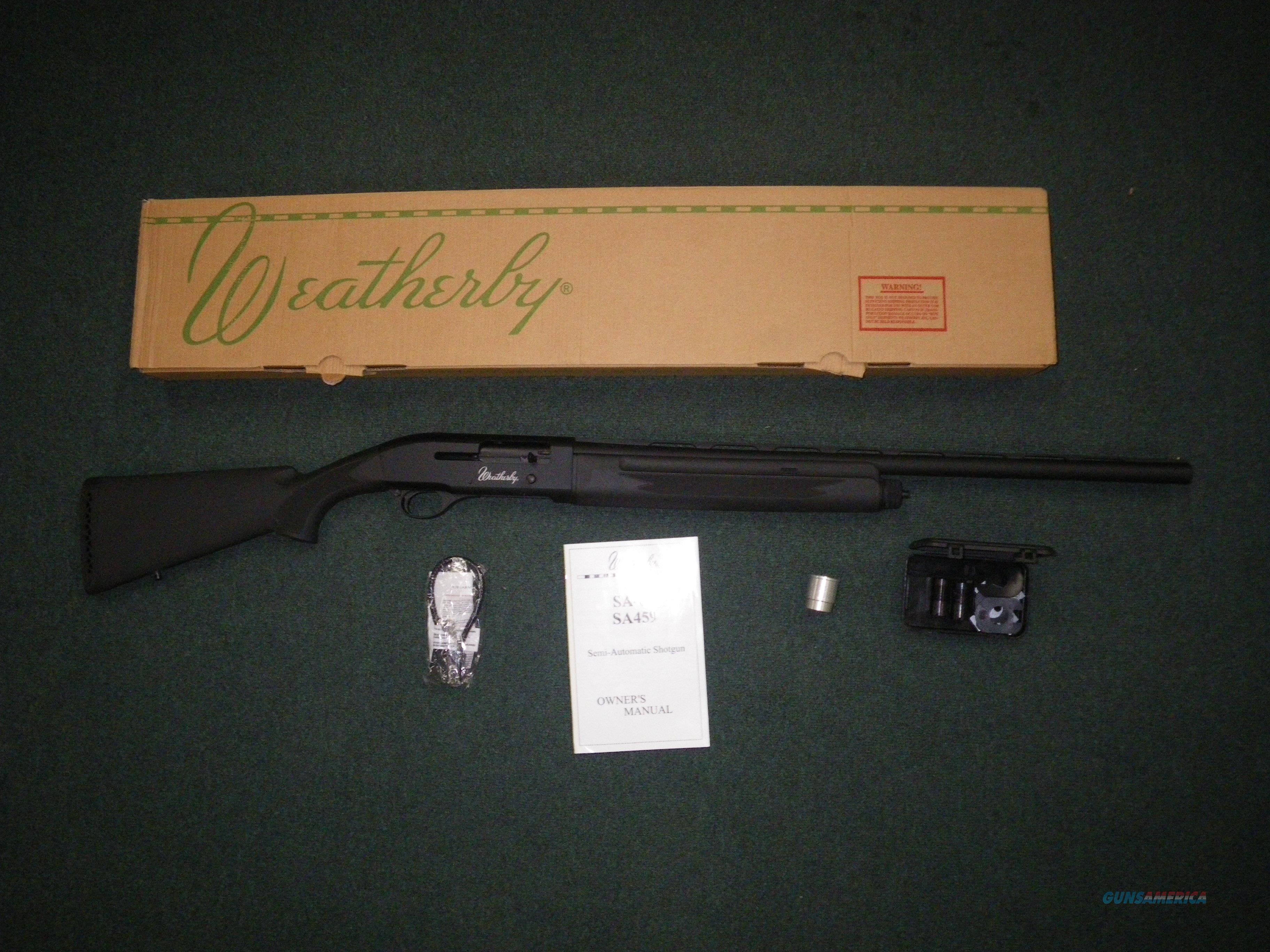 "Weatherby SA-08 Synthetic 20ga 26"" 3"" Chamber  NEW SA08S2026PGM  Guns > Shotguns > Weatherby Shotguns > Hunting > Autoloader"