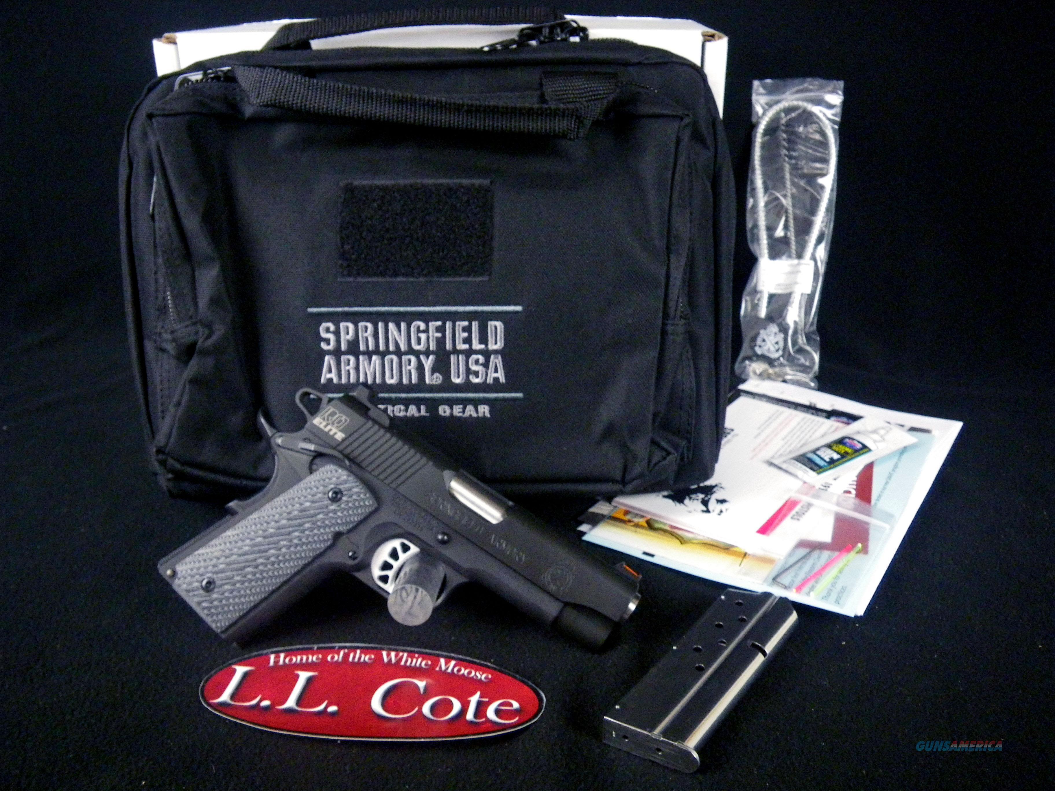 "Springfield 1911 Range Officer Elite Cmpct 9mm 4"" NEW PI9125E  Guns > Pistols > Springfield Armory Pistols > 1911 Type"