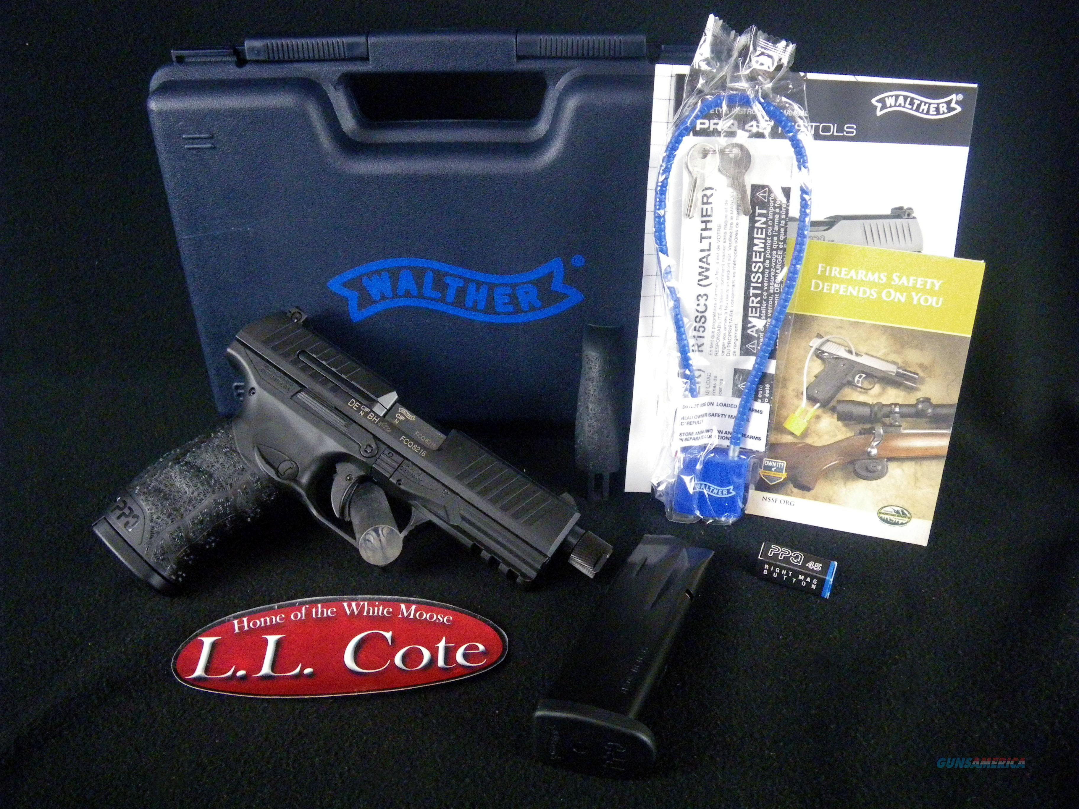 "Walther PPQ 45 SD Threaded 45ACP 4.875"" NEW 2829231  Guns > Pistols > Walther Pistols > Post WWII > P99/PPQ"