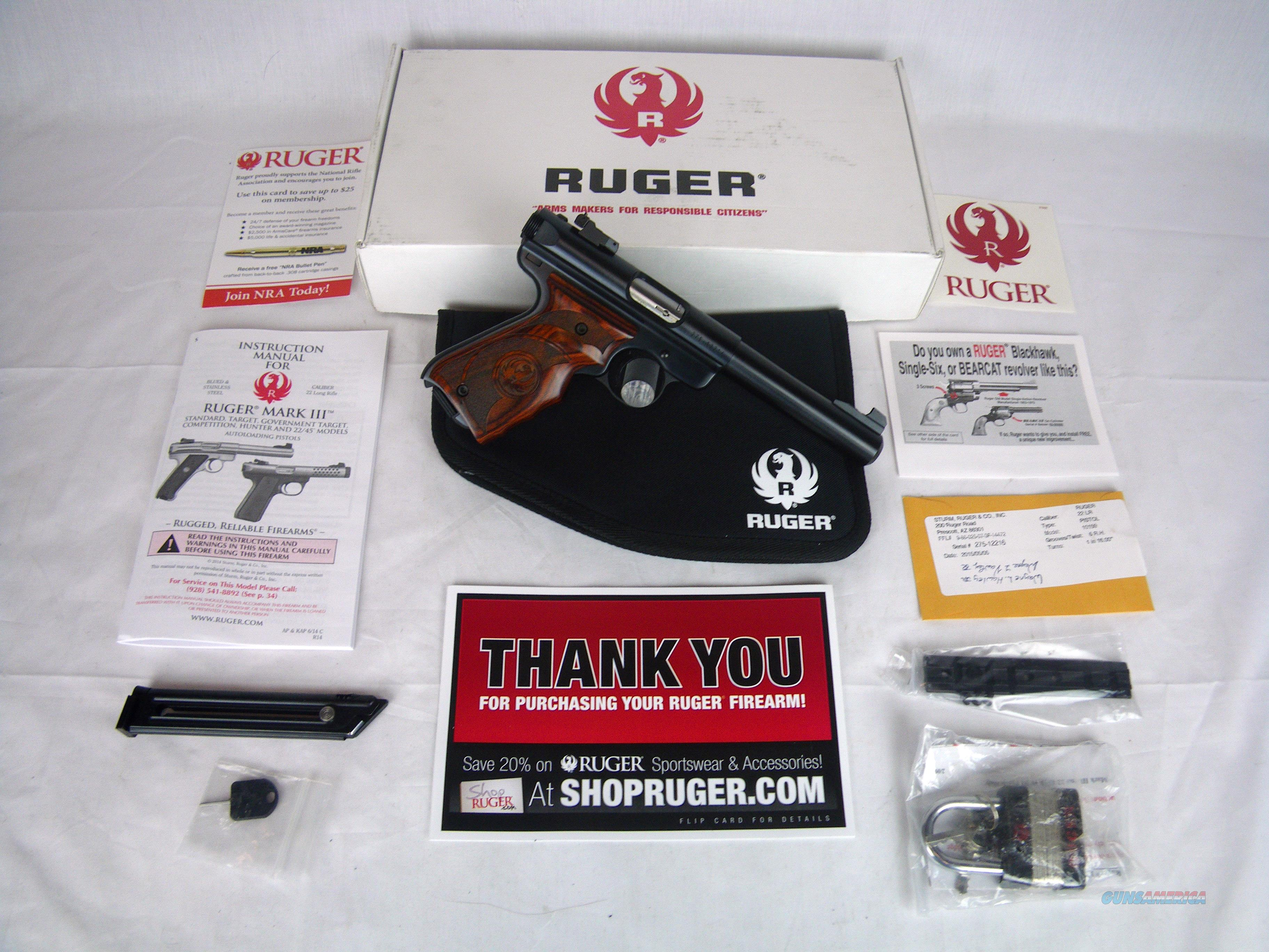 "Ruger Mark III Target 22lr 5.5"" Target Grips NEW #10159  Guns > Pistols > Ruger Semi-Auto Pistols > Mark I/II/III Family"